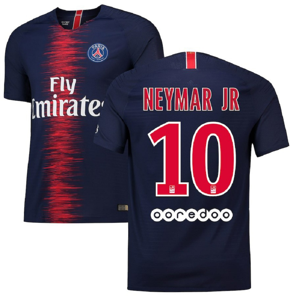 Majestic Athletic Men's Neymar #10 Paris Saint-Germain 201819 Home Navy Jersey