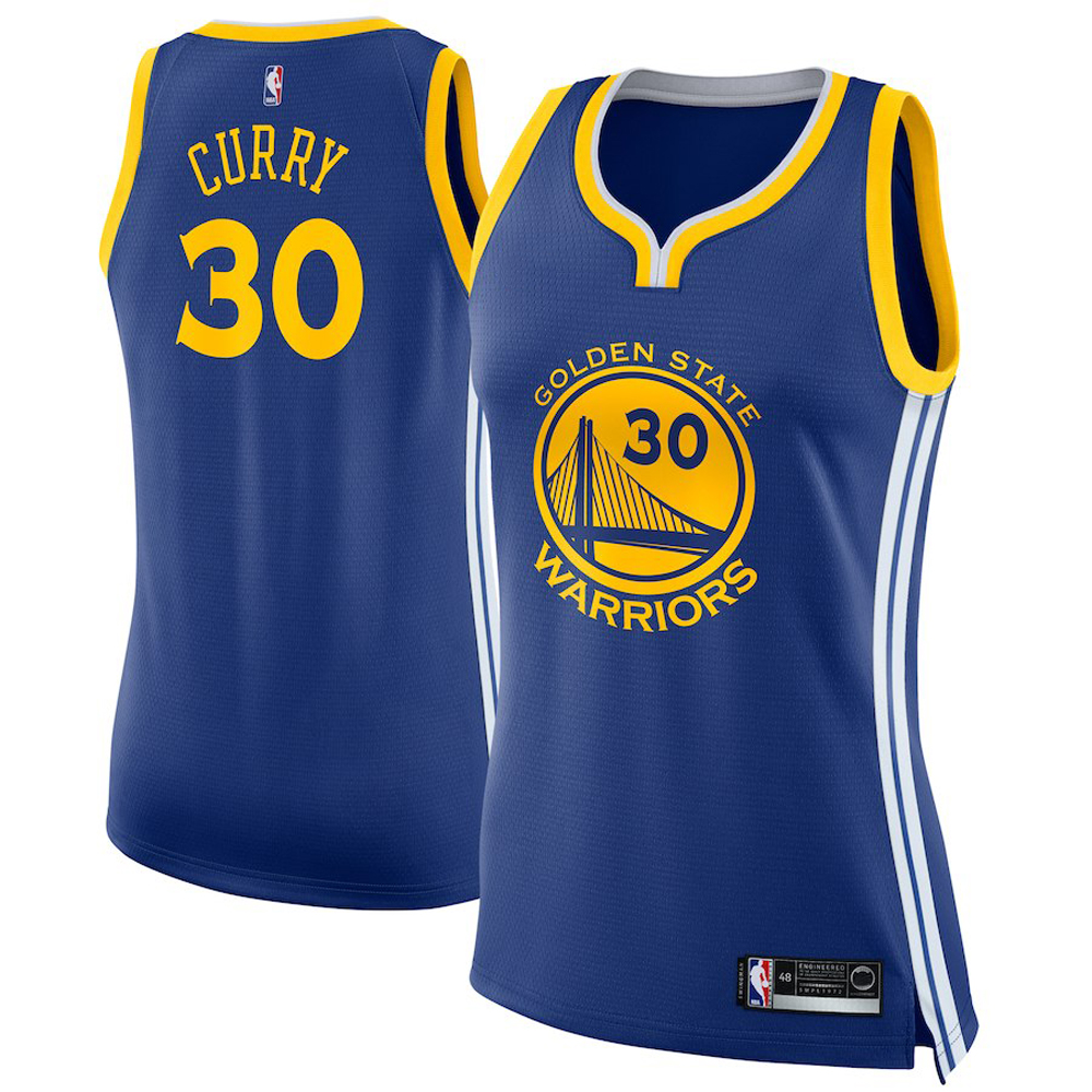Majestic Athletic Stephen Curry #30 Golden State Warriors Women's Swingman Jersey Blue