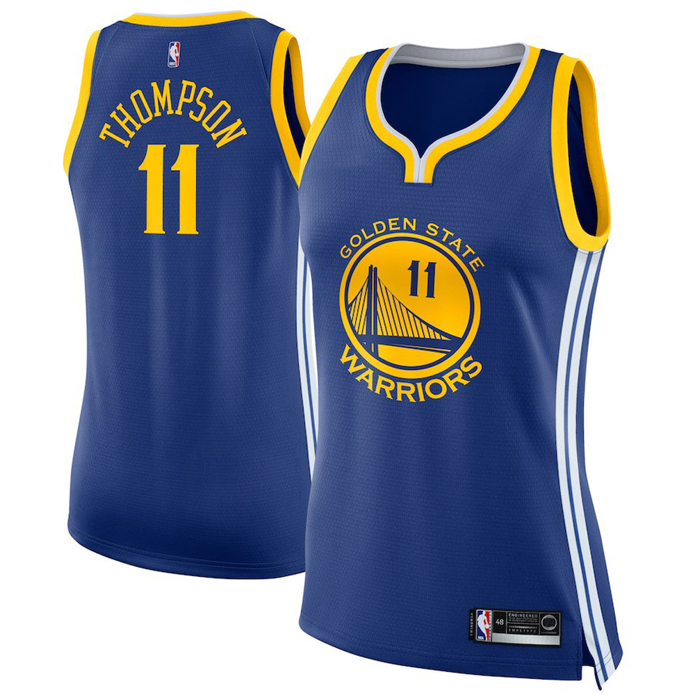 Majestic Athletic Klay Thompson #11 Golden State Warriors Women's Swingman Jersey Blue