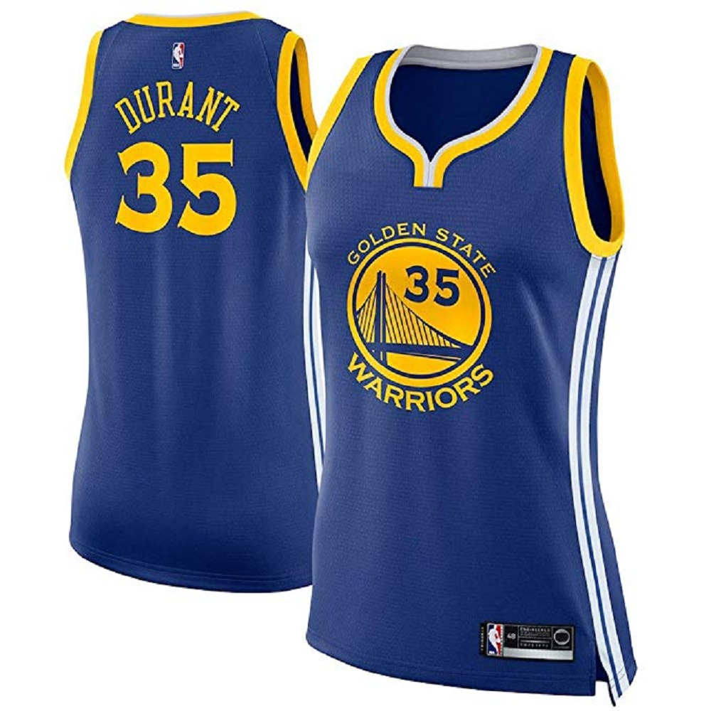Majestic Athletic Women's Kevin Durant #35 Blue Golden State Warriors Swingman Jersey
