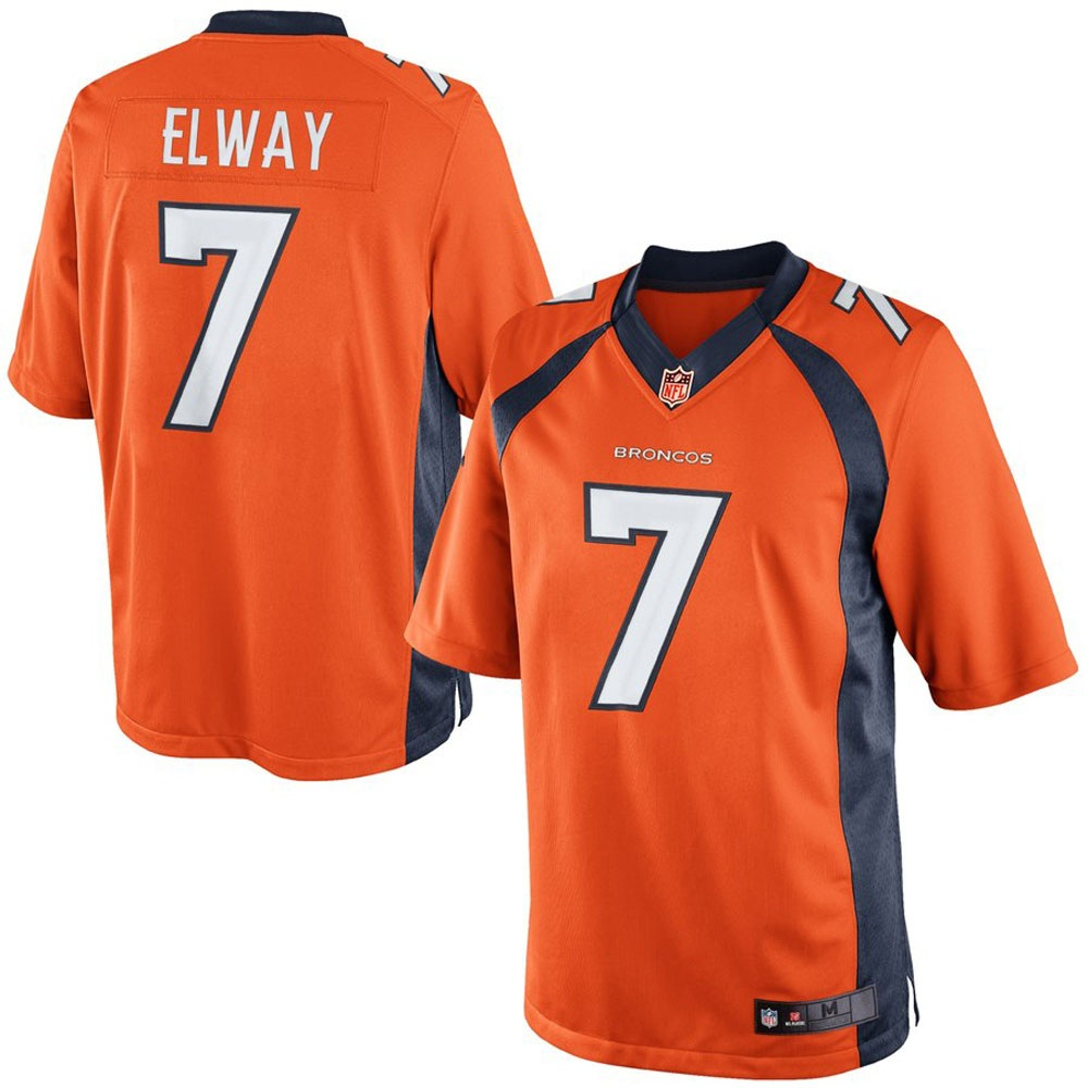 Majestic Athletic John Elway #7 Denver Broncos Retired Player Limited Orange Jersey