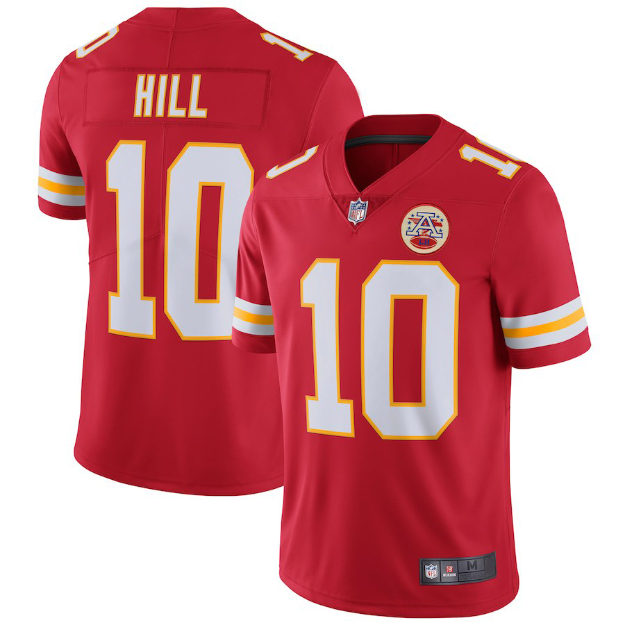 Majestic Athletic Men's Kansas City Chiefs #10 Tyreek Hill Red Home Limited Jersey