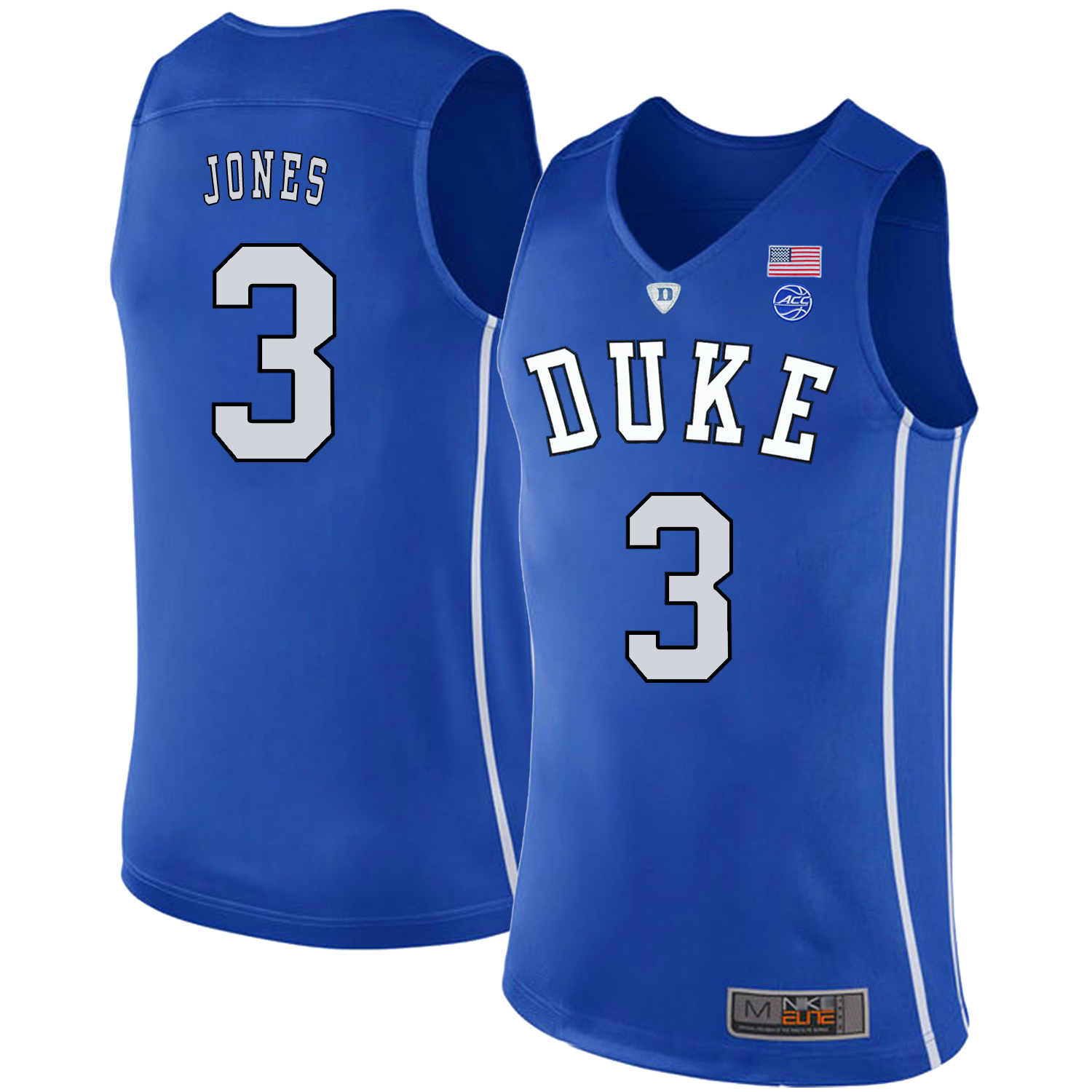 Majestic Athletic Men's Duke Blue Devils #3 Tre Jones Black College Basketball Jersey