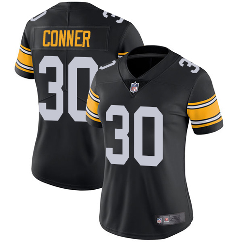 Majestic Athletic Pittsburgh Steelers #30 James Conne Black Alternate Limited Women's Jersey