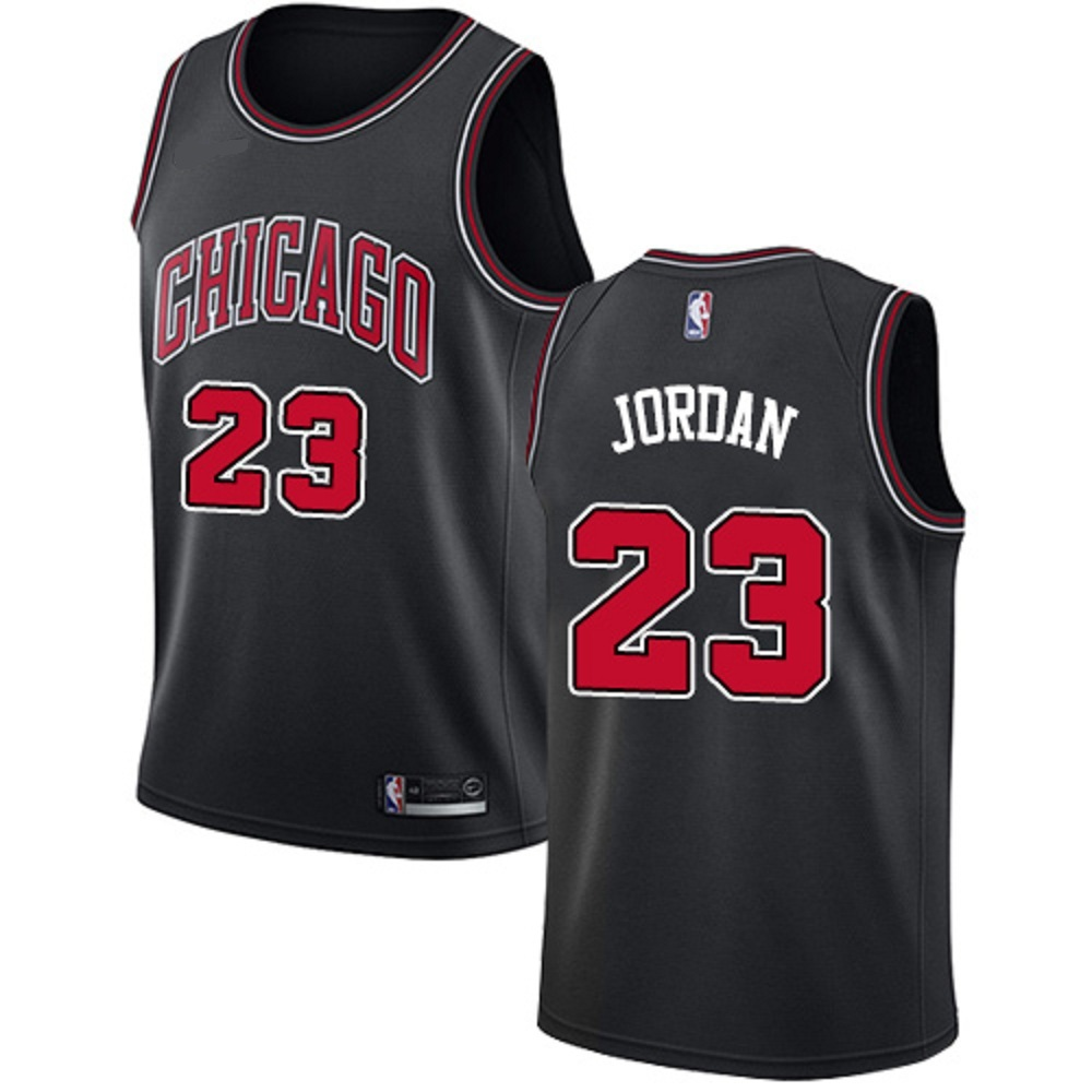 Majestic Athletic Men's Chicago Bulls #23 Michael Jordan Swingman Jersey Black