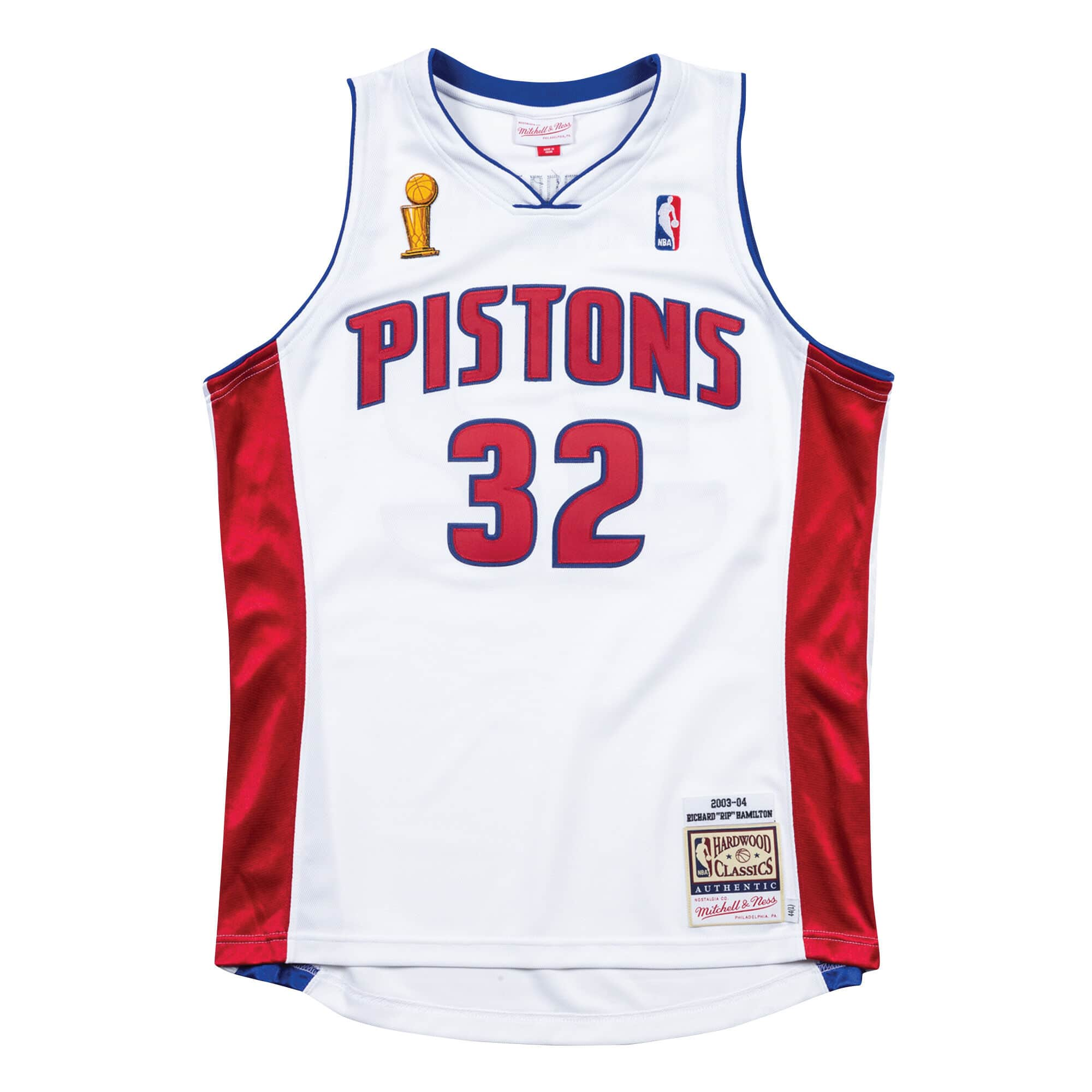 Authentic Jersey Detroit Pistons Home Finals 2003-04 Richard Hamilton