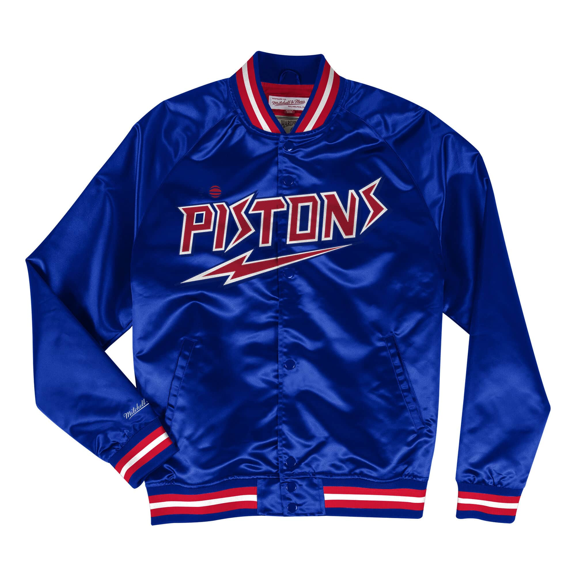 Lightweight Satin Jacket Detroit Pistons