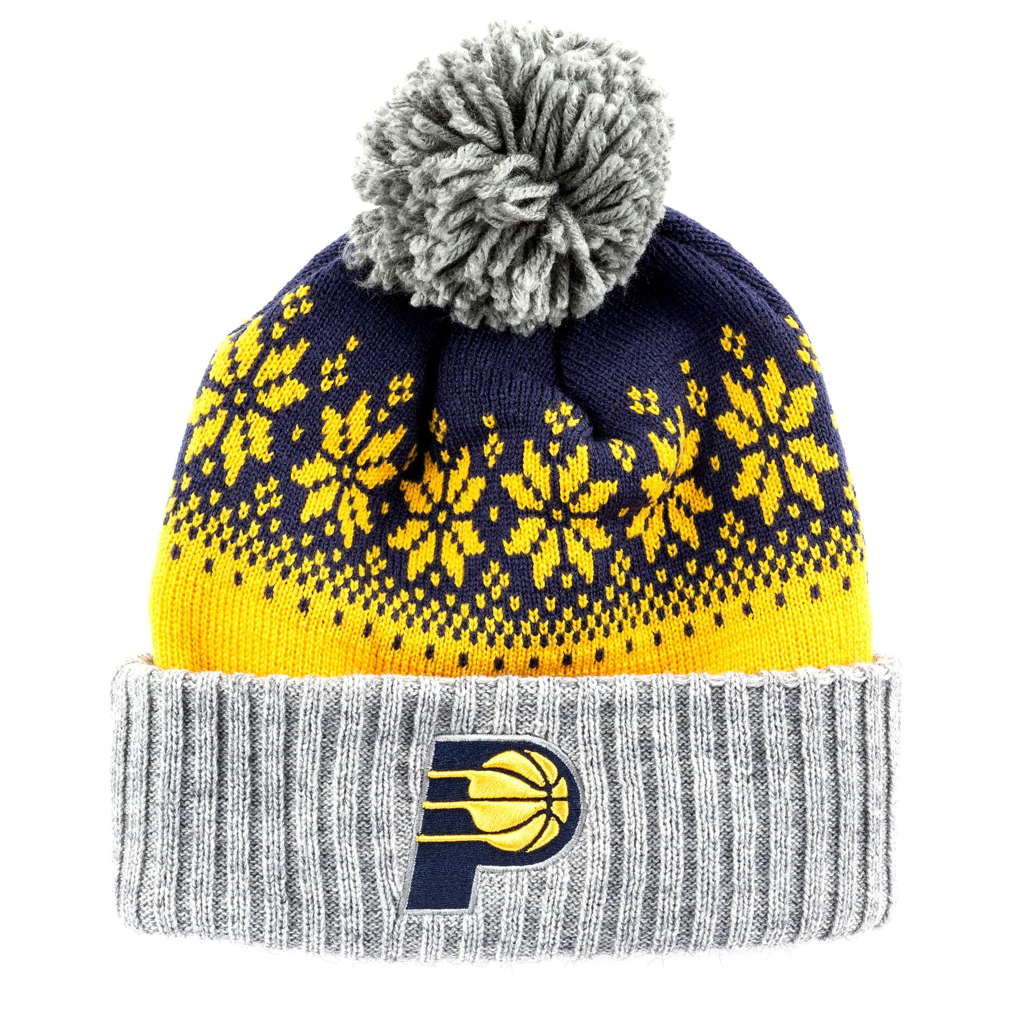 Artic Snowflake Cuffed Pom Indiana Pacers