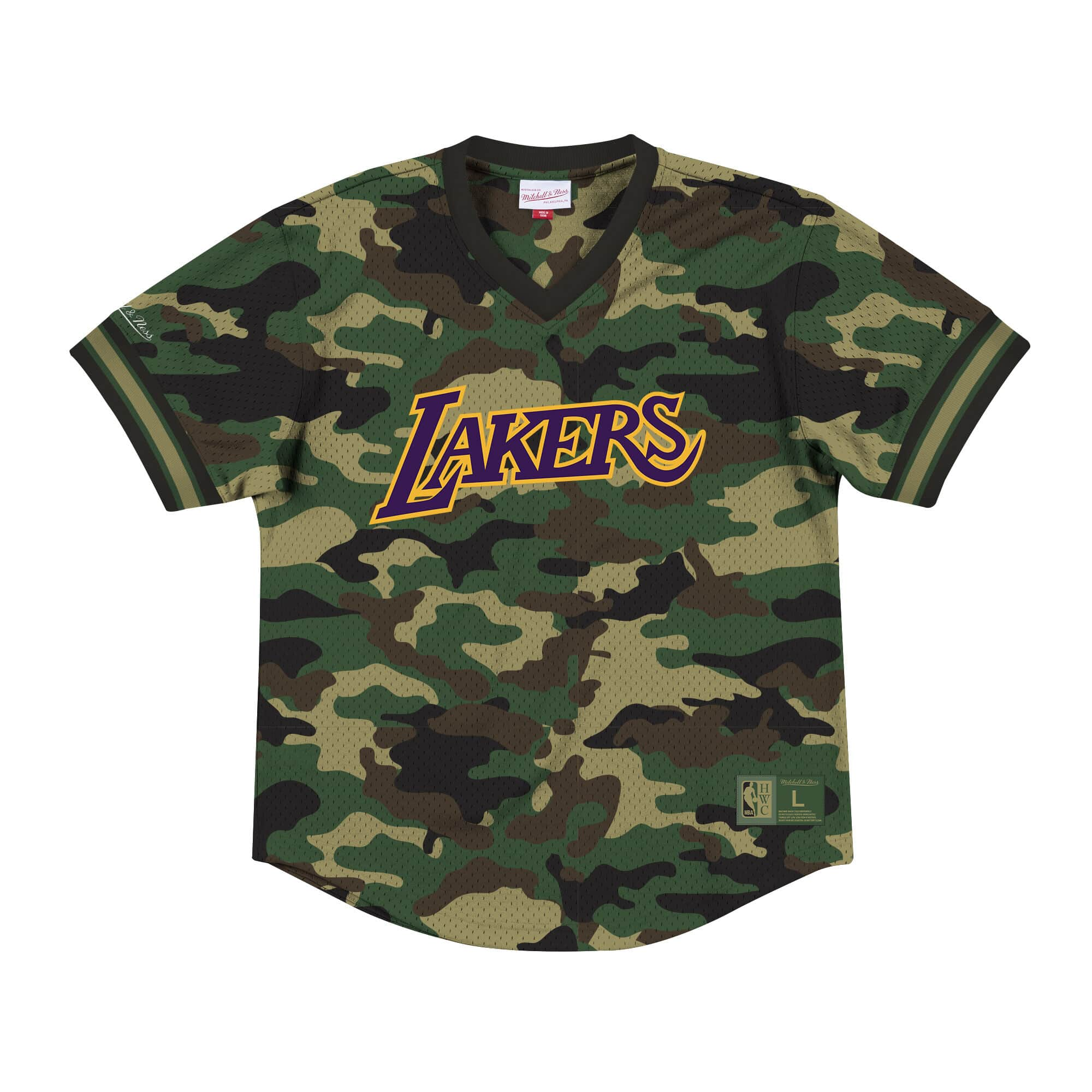 Camo Mesh V-Neck Los Angeles Lakers