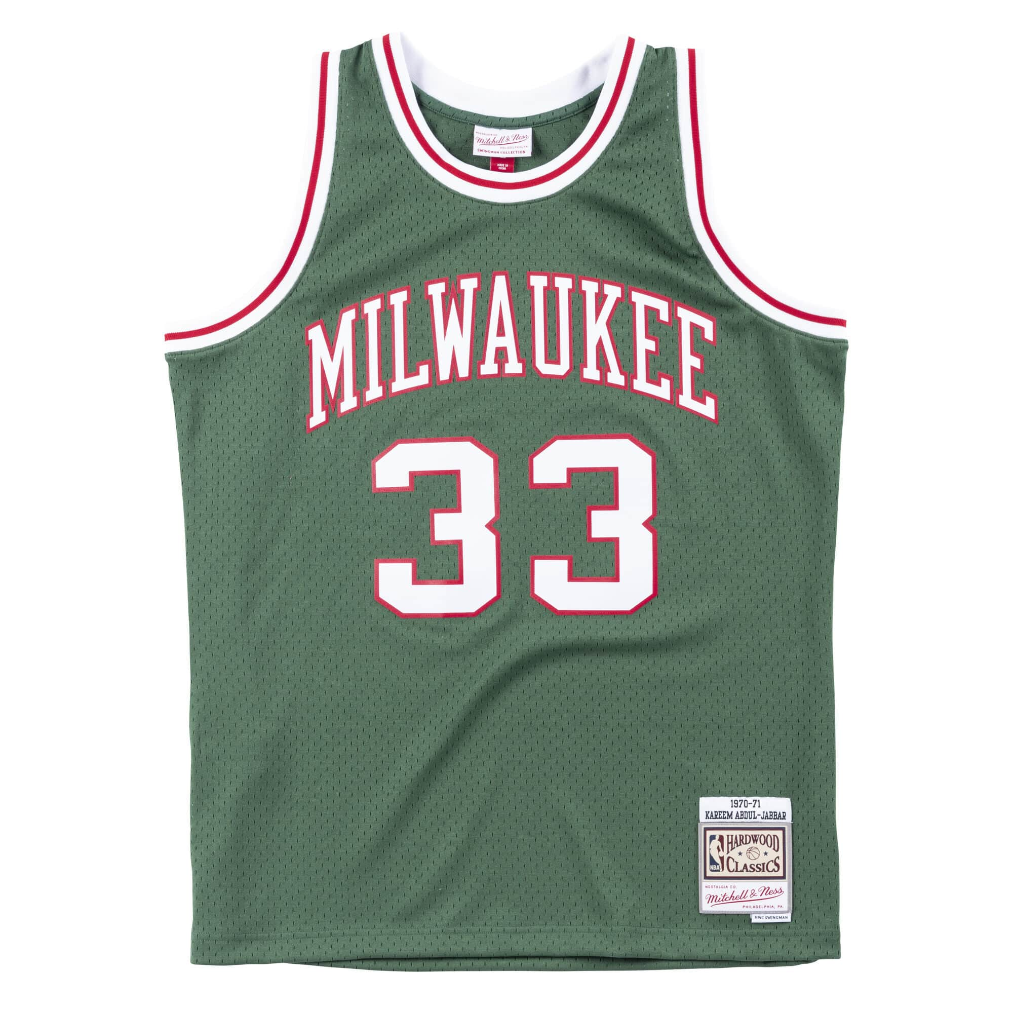 Swingman Jersey Milwaukee Bucks 1970-71 Kareem Abdul-Jabbar