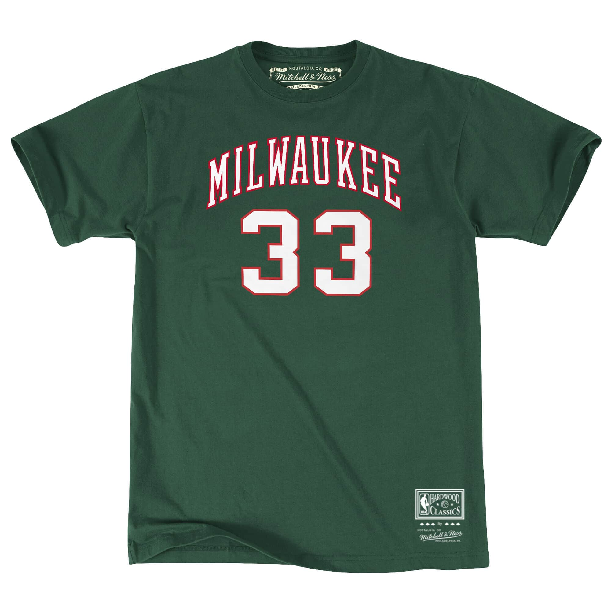 Name & Number Tee Milwaukee Bucks Kareem Abdul-Jabbar