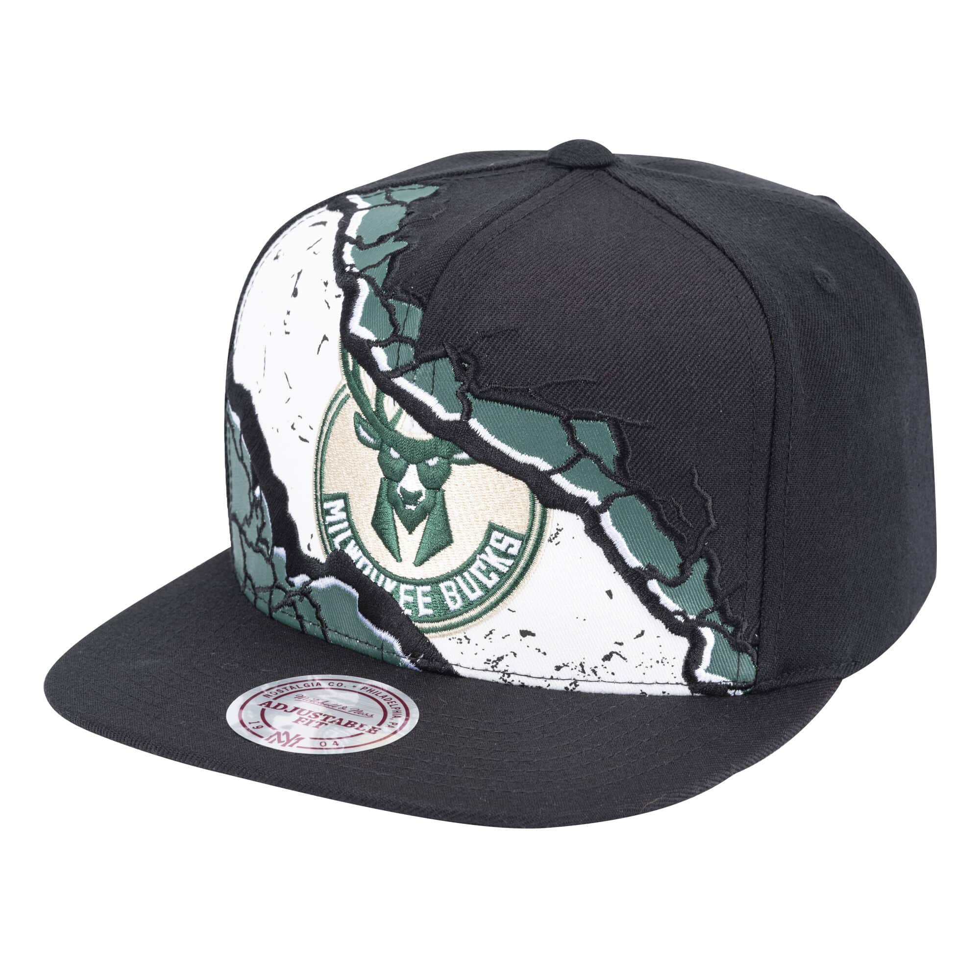 Peeled Snapback Milwaukee Bucks