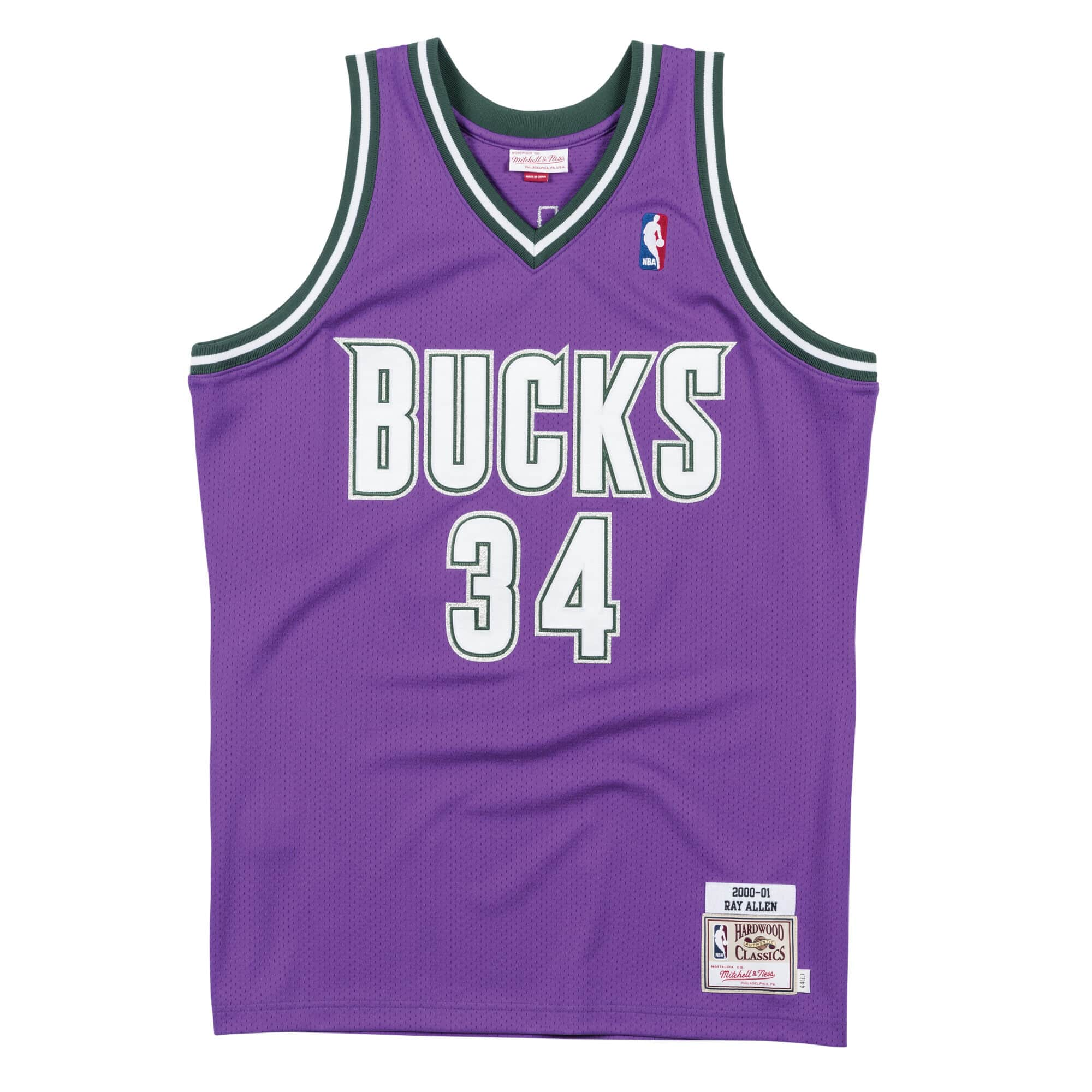 Authentic Jersey Milwaukee Bucks Road 2000-01 Ray Allen
