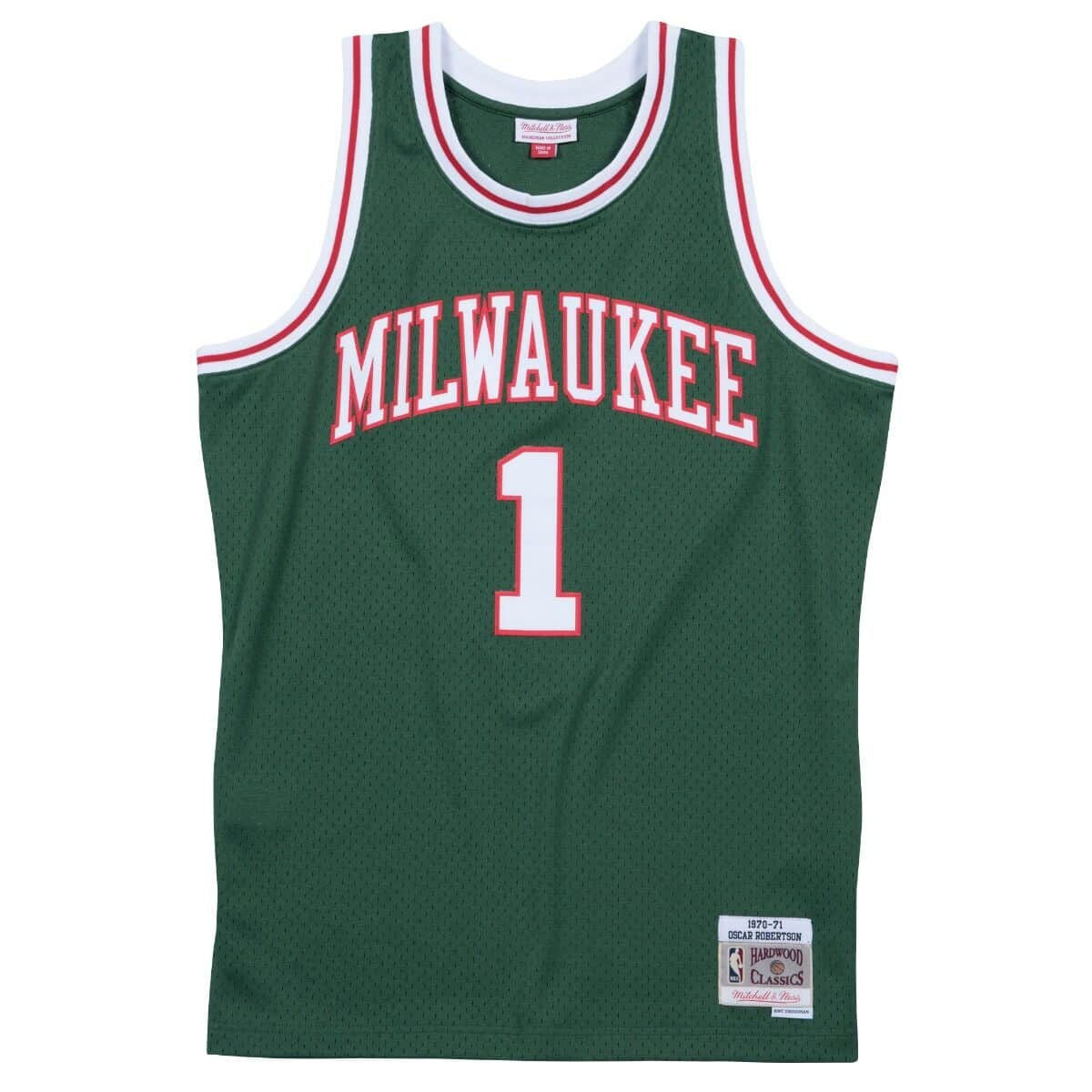 Oscar Robertson 1970-71 Milwaukee Bucks Road Swingman Jersey