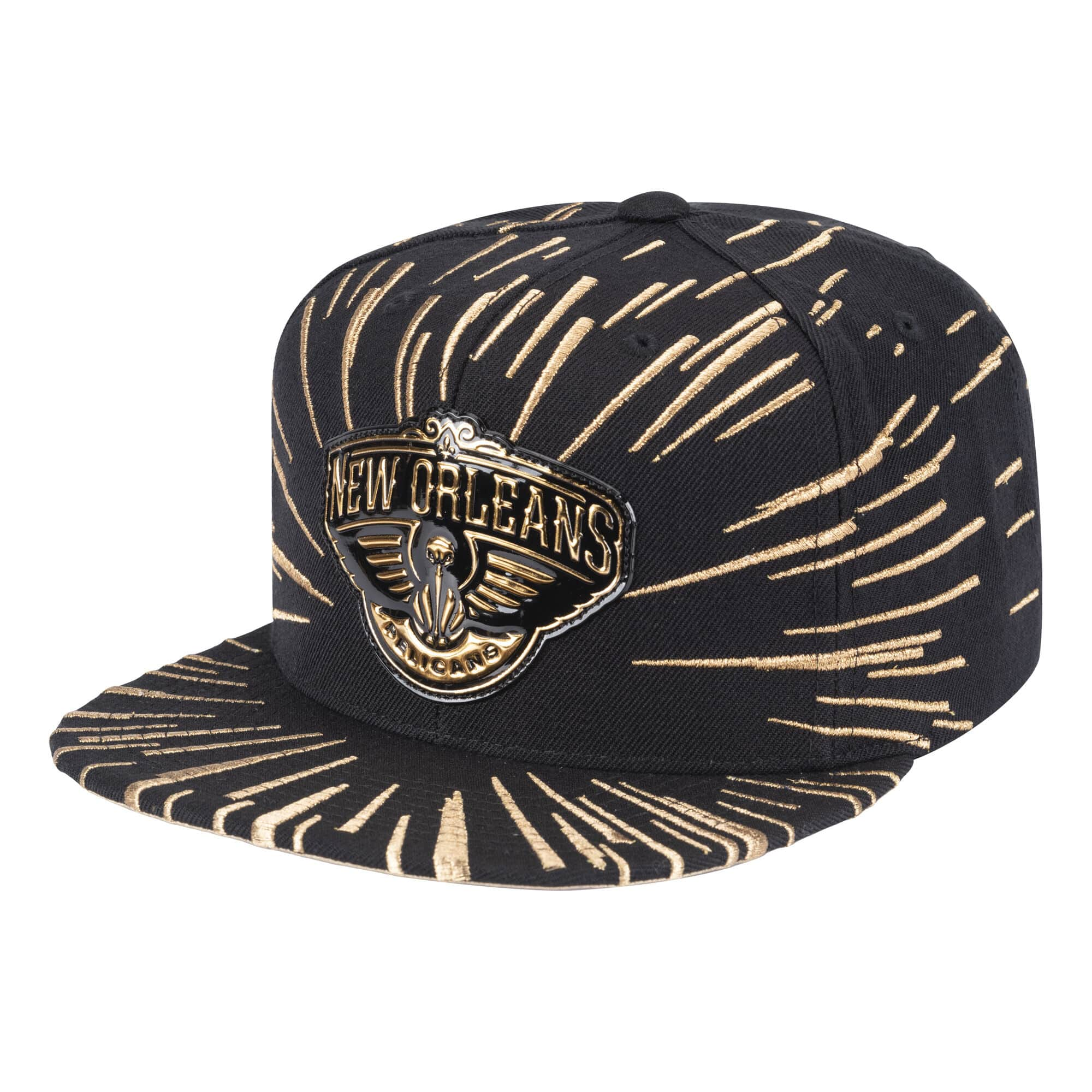 Nucleo Gold Snapback New Orleans Pelicans