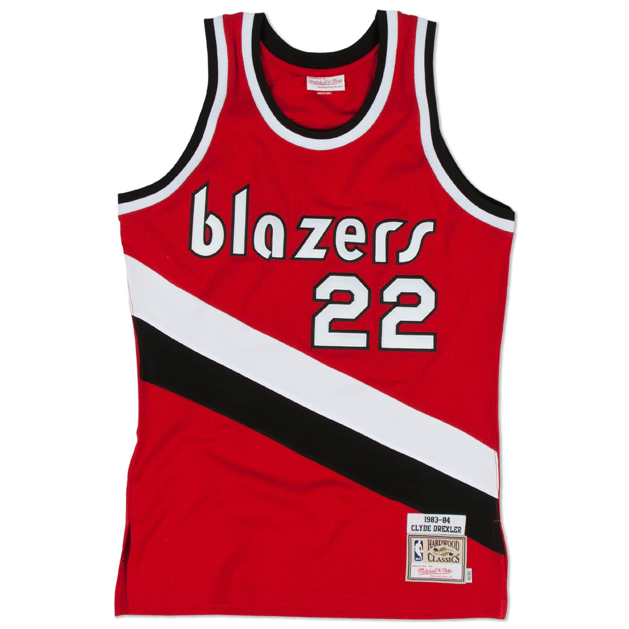 Clyde Drexler 1983-84 Authentic Jersey Portland Trail Blazers