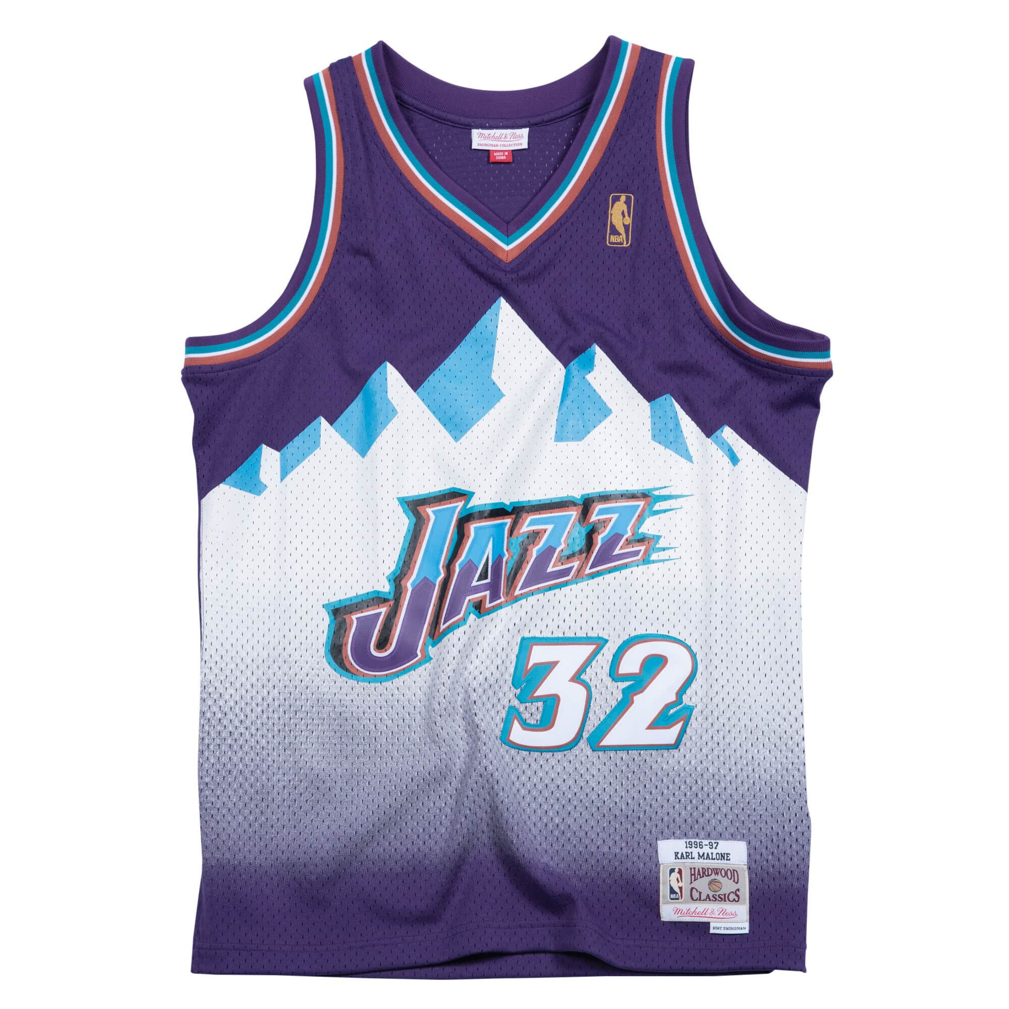 Swingman Jersey Utah Jazz Road 1996-97 Karl Malone