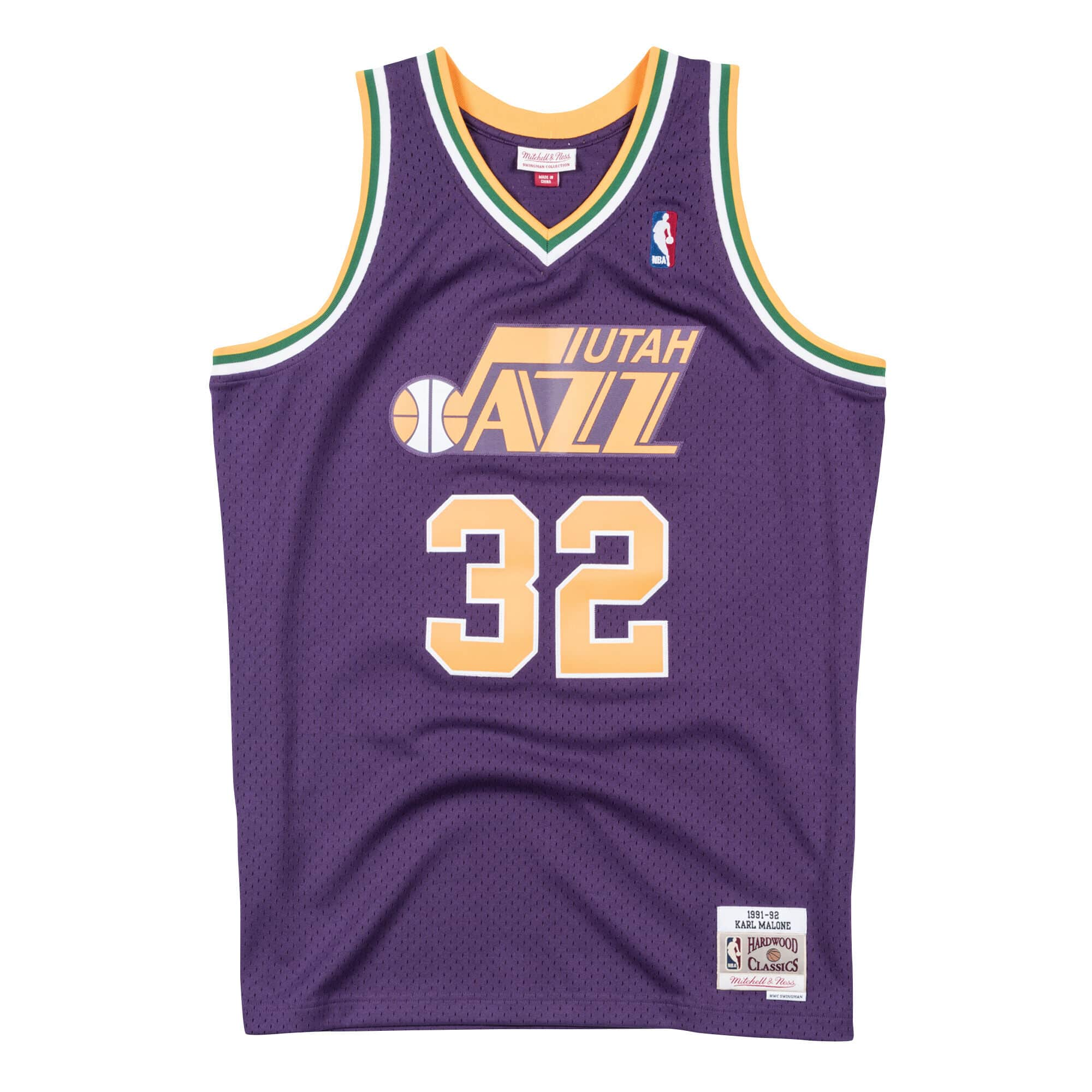 Swingman Jersey Utah Jazz Road 1991-92 Karl Malone