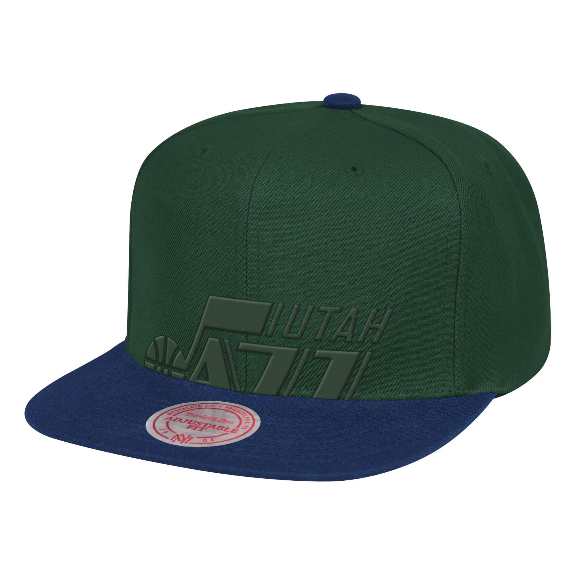 Cropped Satin Snapback Utah Jazz