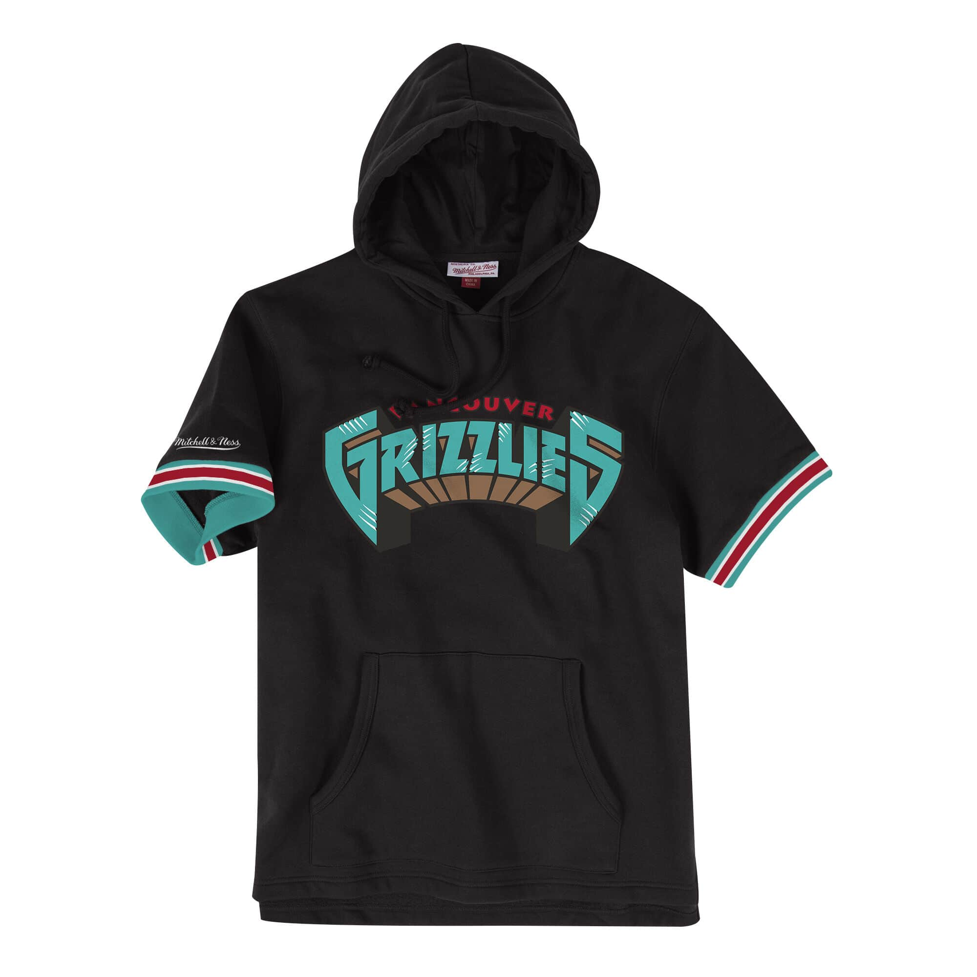French Terry Short Sleeve Hoody Vancouver Grizzlies