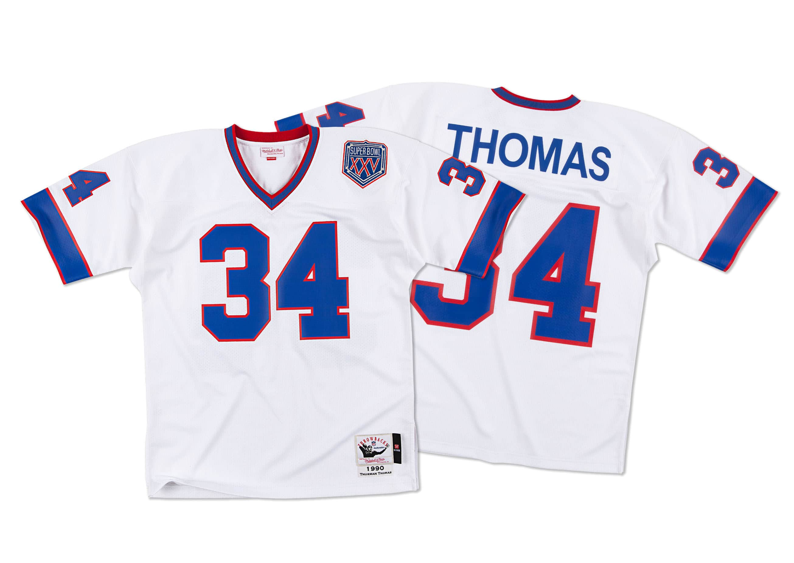 Thurman Thomas 1990 Authentic Jersey Buffalo Bills