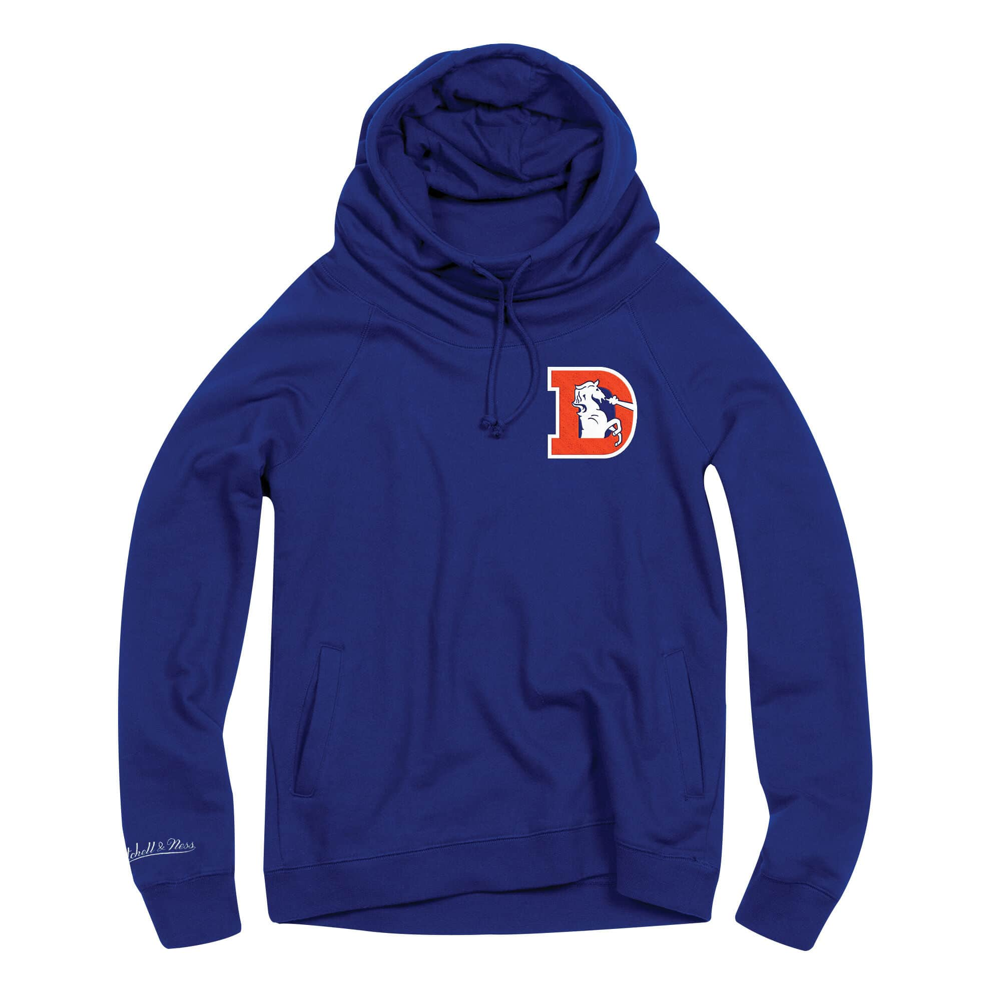 Women's Funnel Neck Hoody Denver Broncos