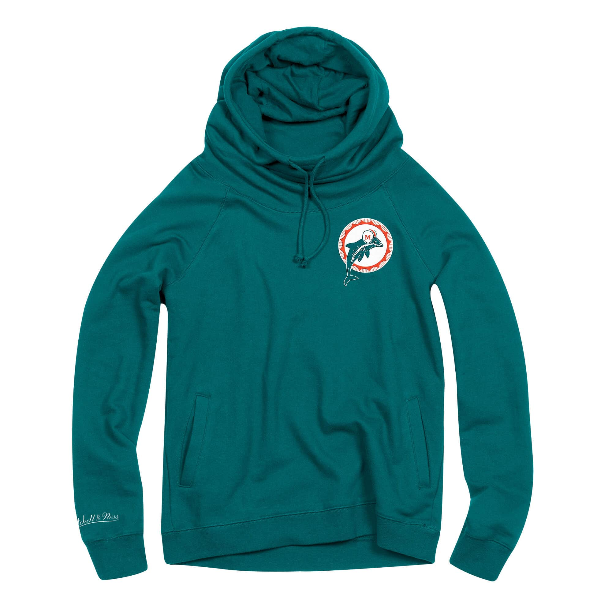 Women's Funnel Neck Hoody Miami Dolphins