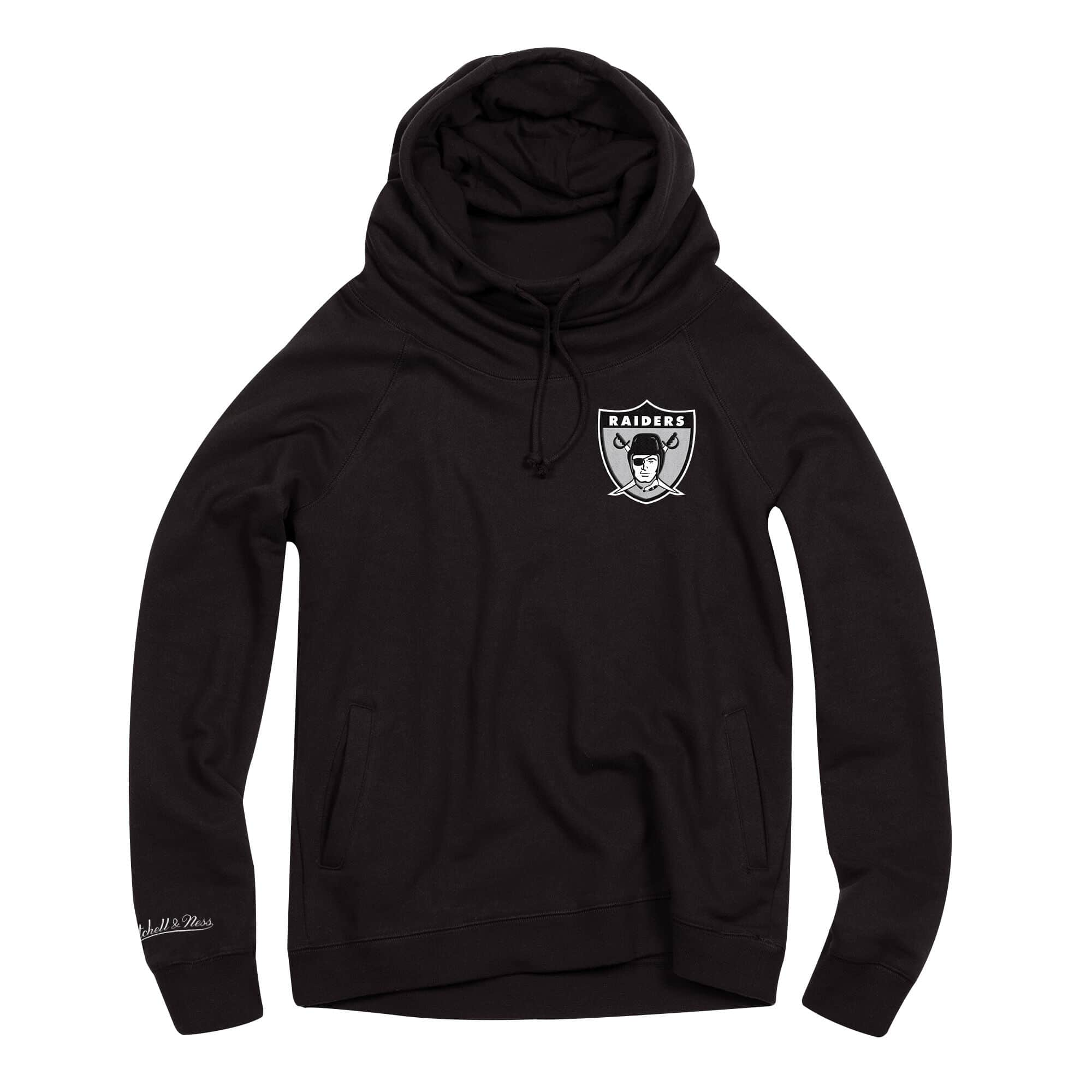 Women's Funnel Neck Hoody Oakland Raiders