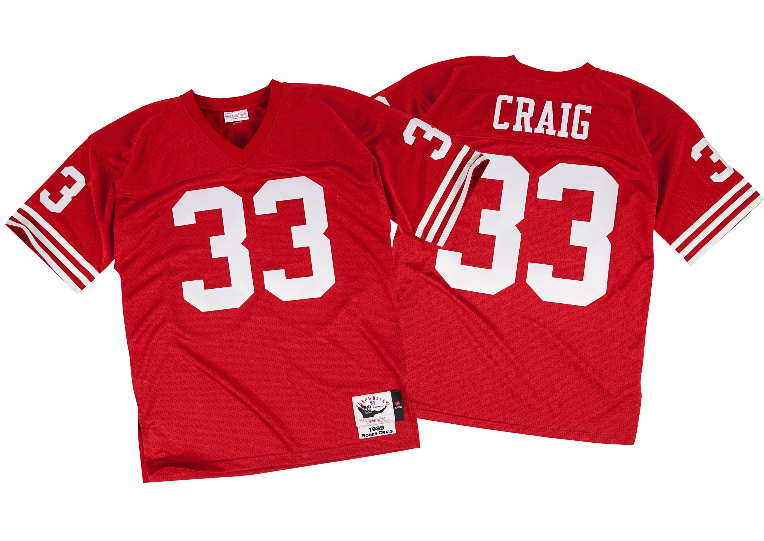 Roger Craig 1989 Authentic Jersey San Francisco 49ers