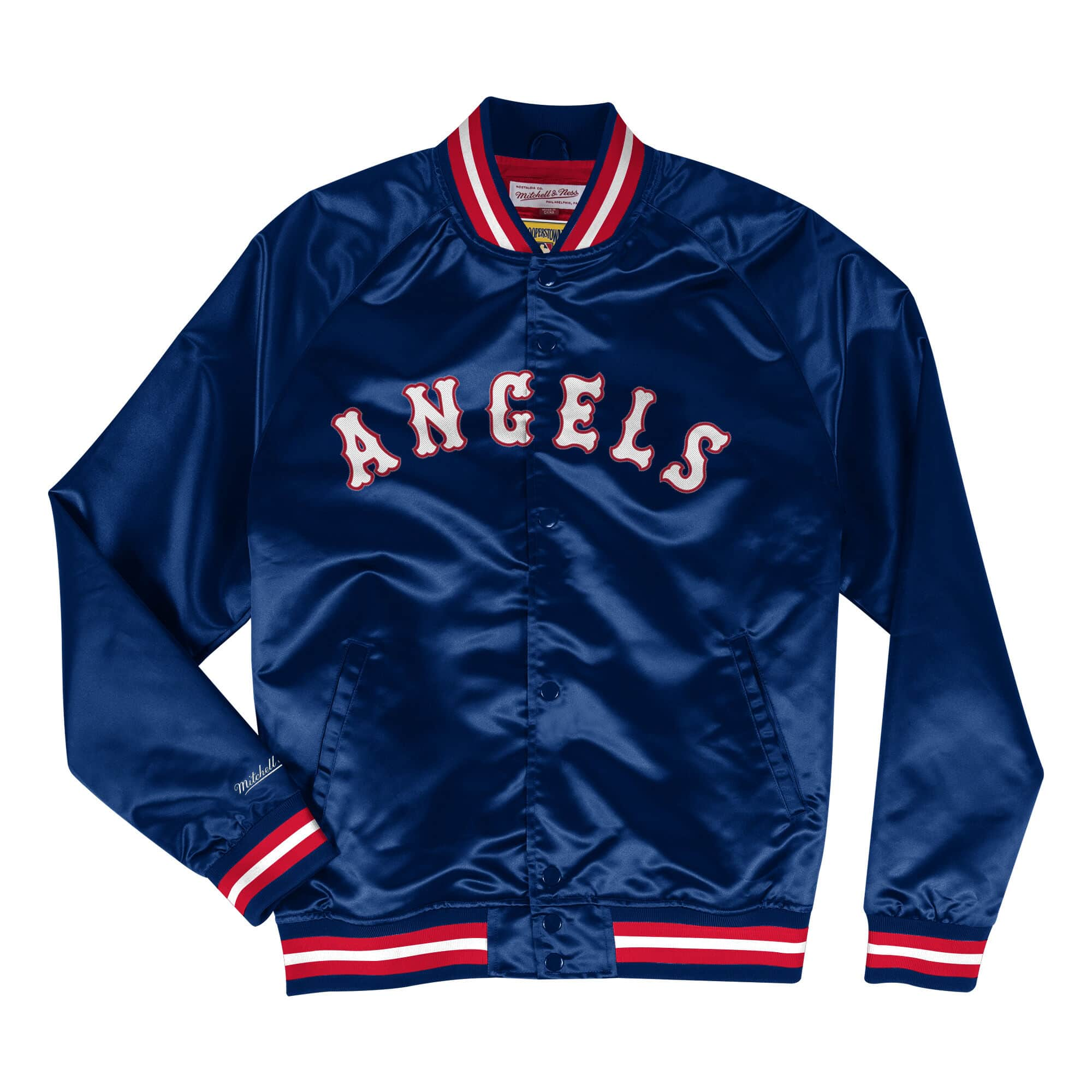 Lightweight Satin Jacket California Angels