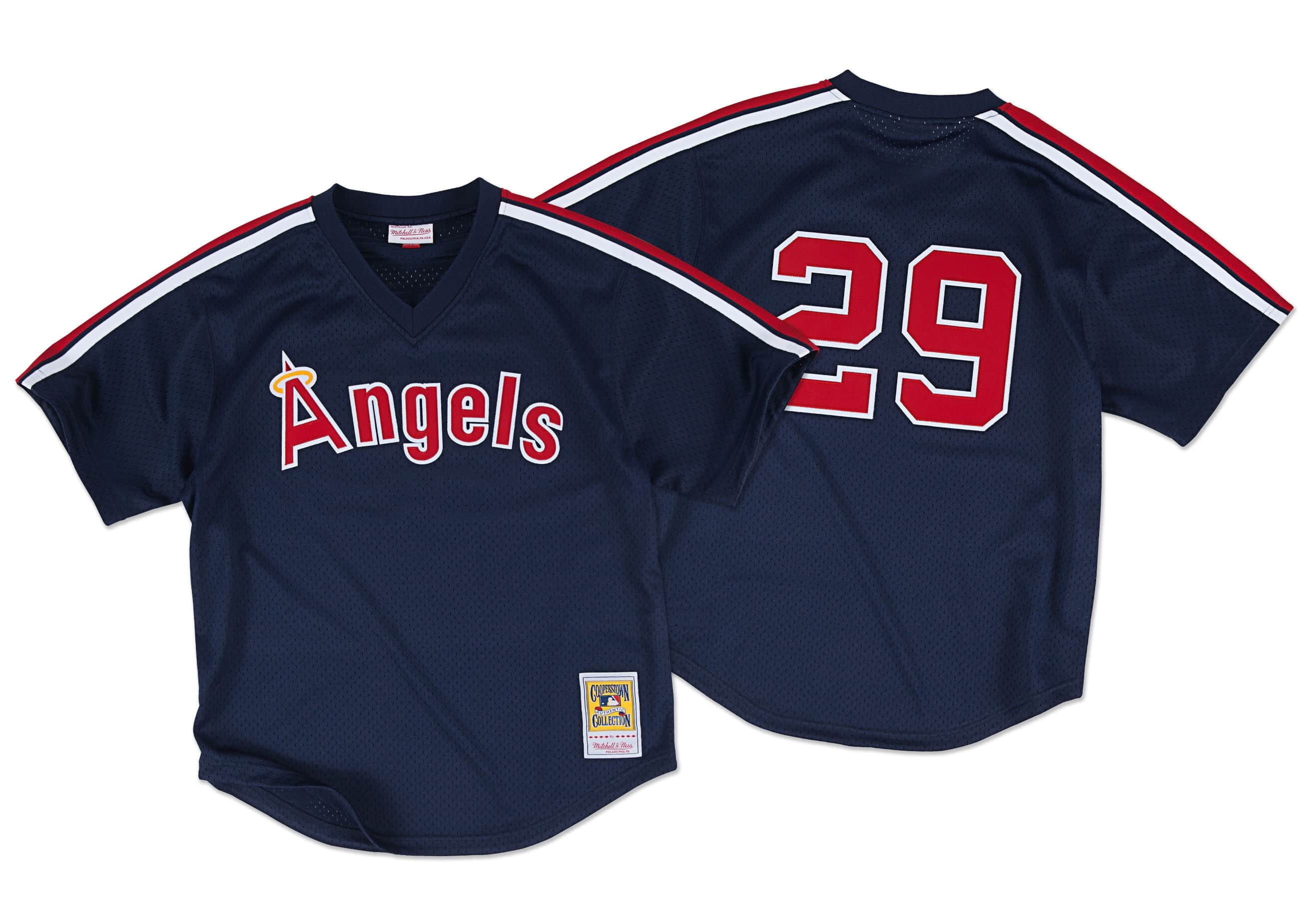 Rod Carew 1984 Authentic Mesh BP Jersey California Angels