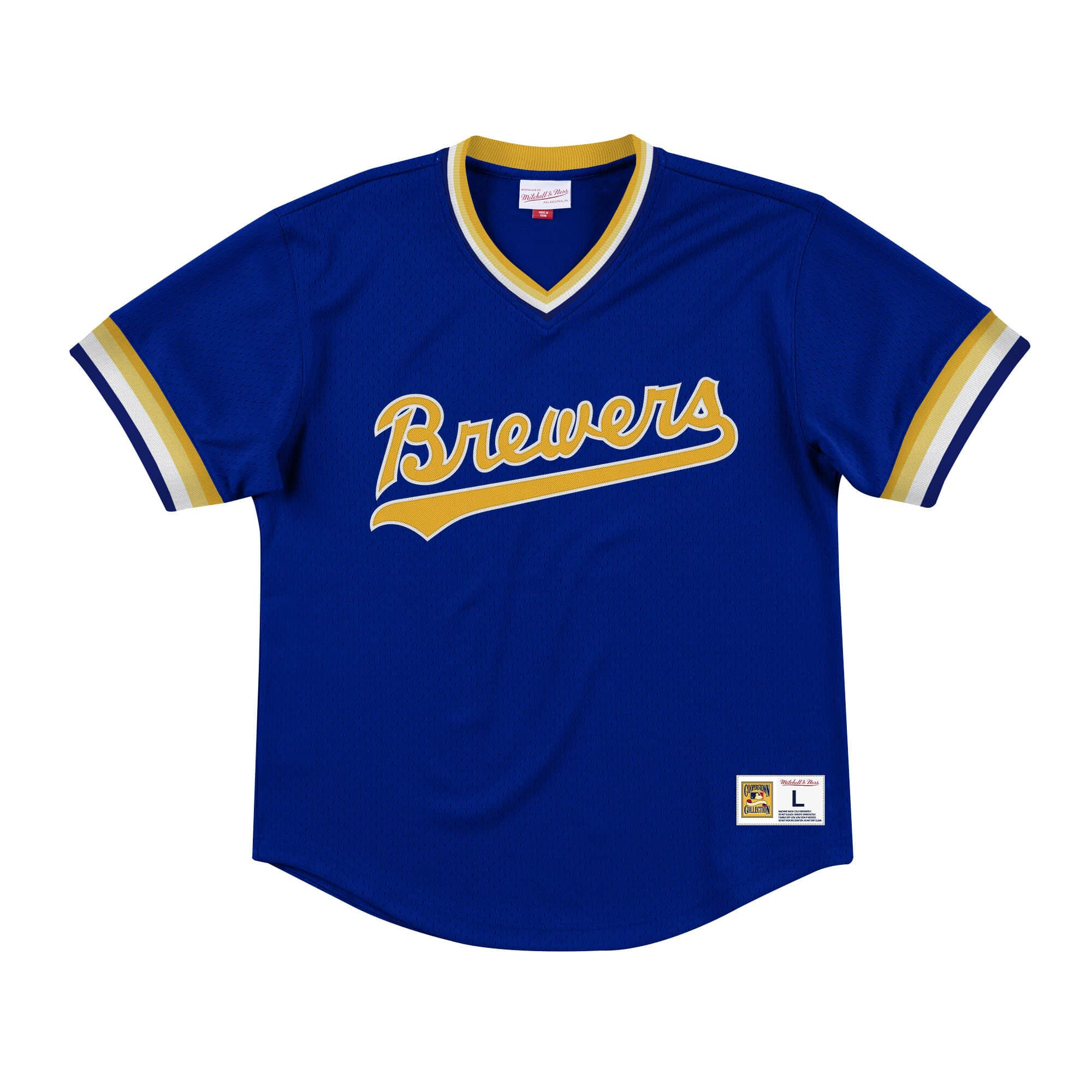 Mesh V-Neck Milwaukee Brewers