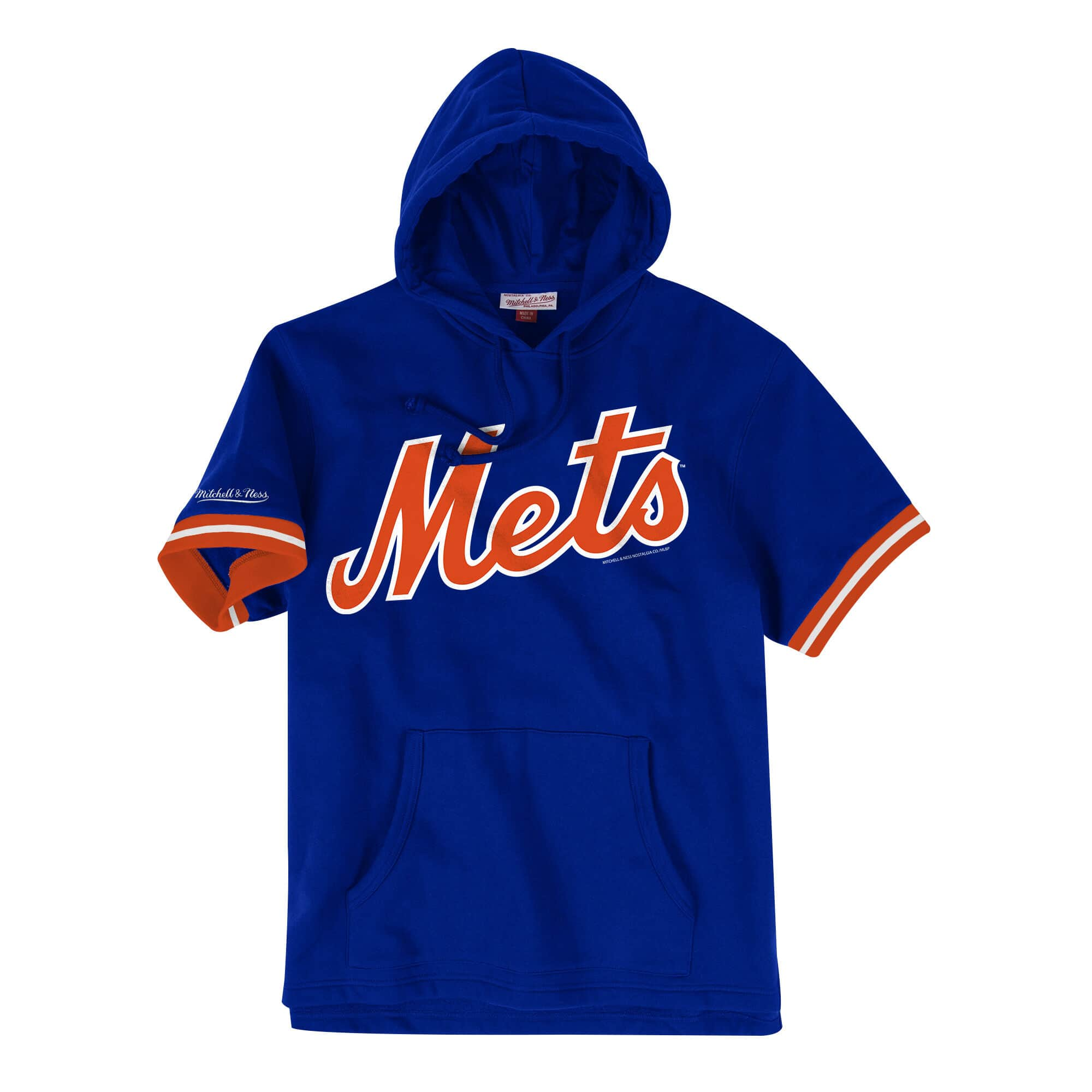 French Terry Short Sleeve Hoody New York Mets