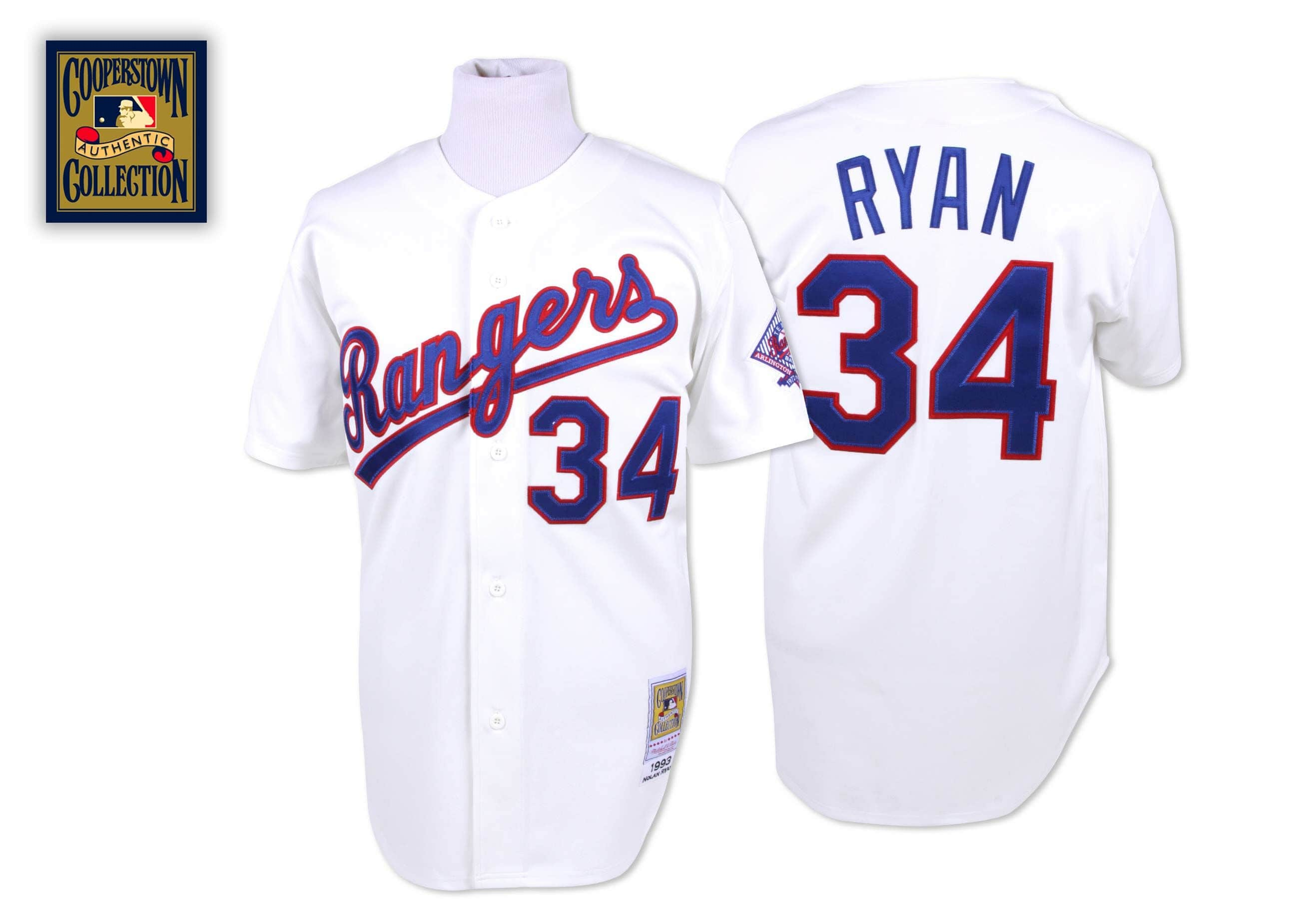 Nolan Ryan 1993 Authentic Jersey Texas Rangers