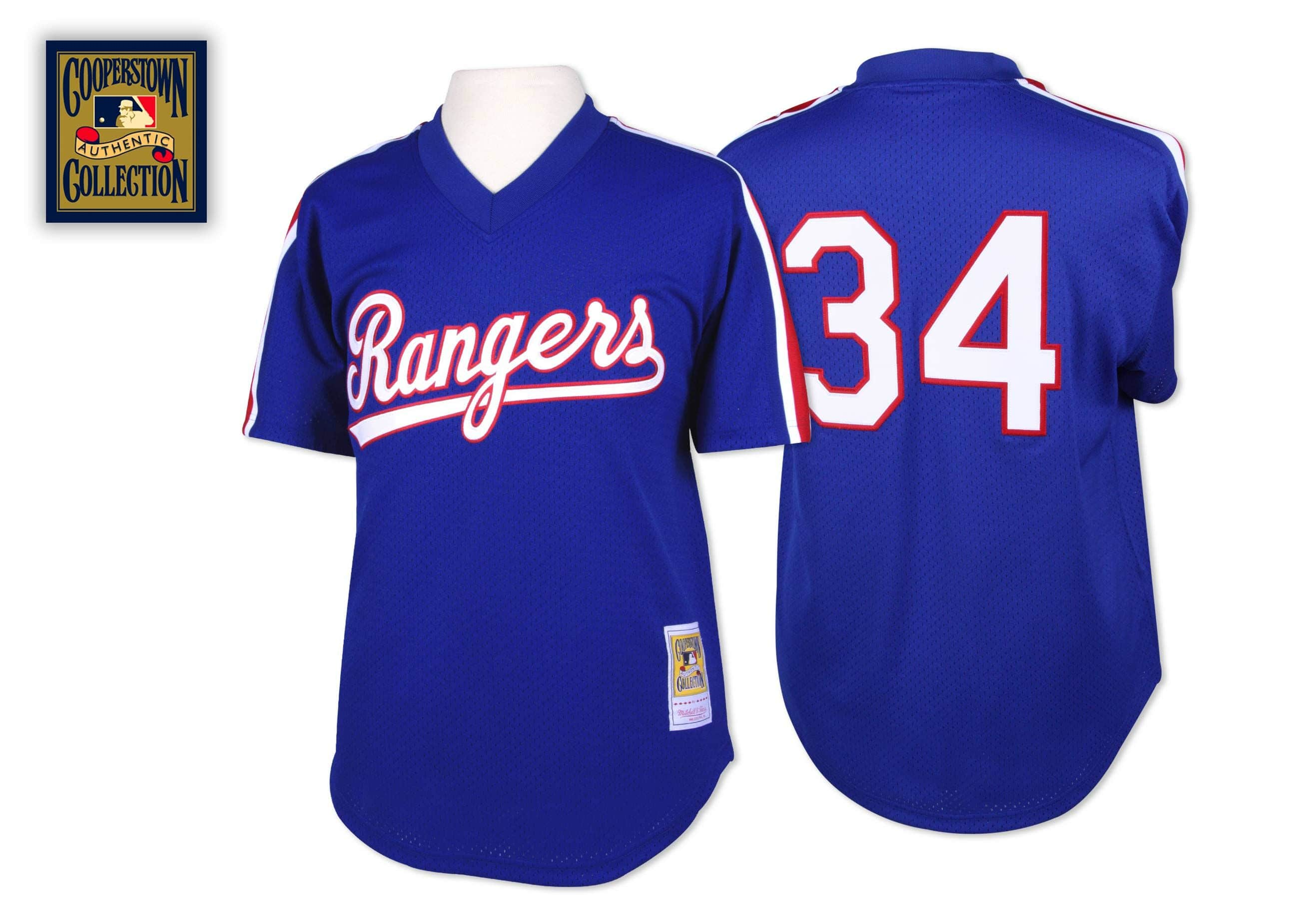 Nolan Ryan 1989 Authentic Mesh BP Jersey Texas Rangers