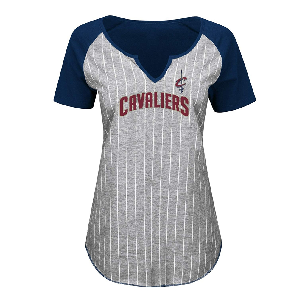 hot sale online b5a30 252dd VF LSG NBA Cleveland Cavaliers Women s Eyes on The Big Prize Short Sleeve  Notch-Neck