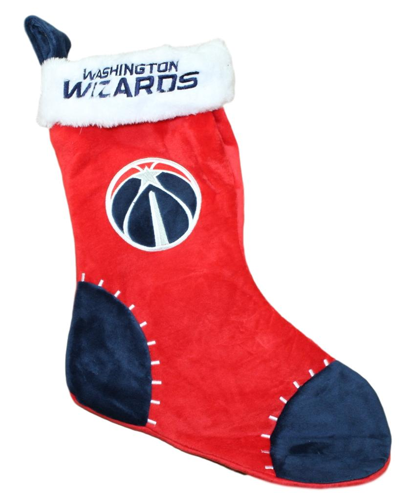 Washington Wizards 2017 NBA Basic Logo Plush Christmas Stocking