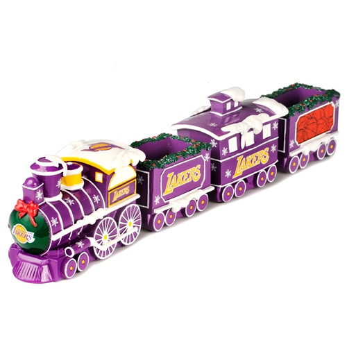Los Angeles Lakers NBA Resin Decorative Holiday Train Set