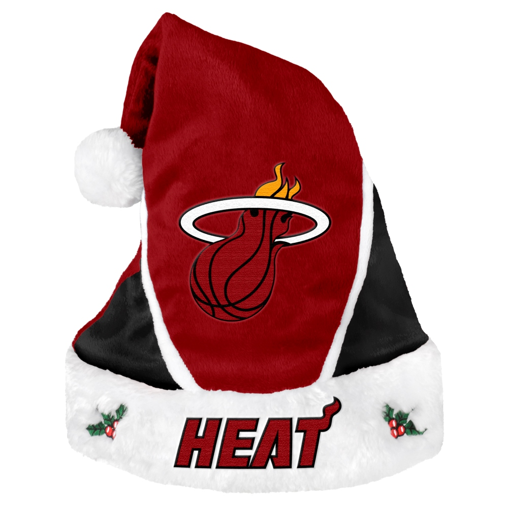 Miami Heat 2014 NBA Color Block Santa Hat
