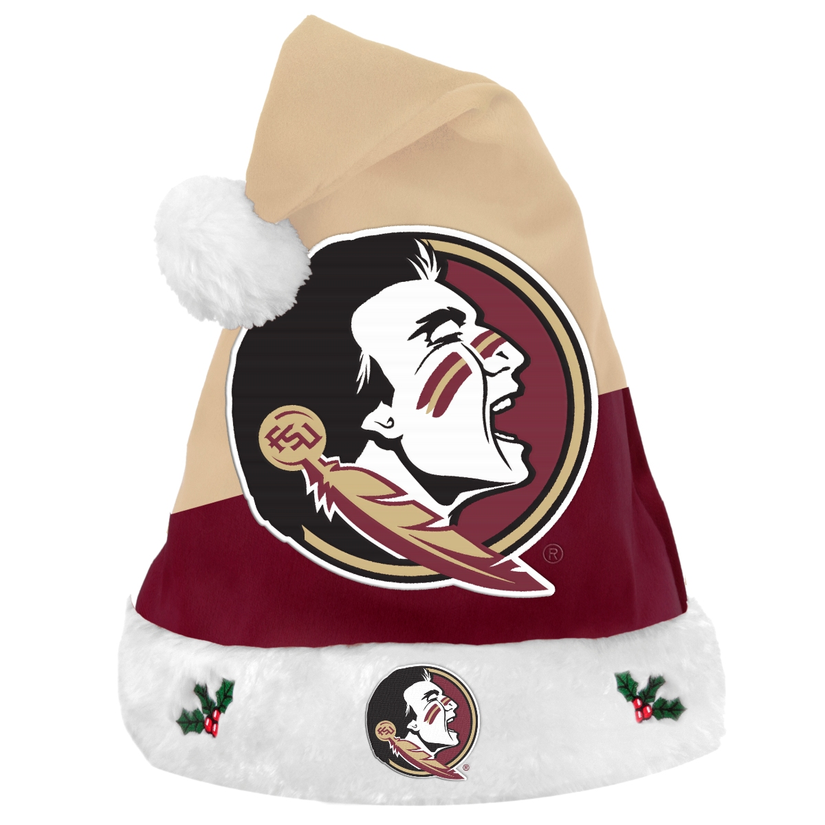 Florida State Seminoles 2018 NCAA Basic Logo Plush Christmas Santa Hat