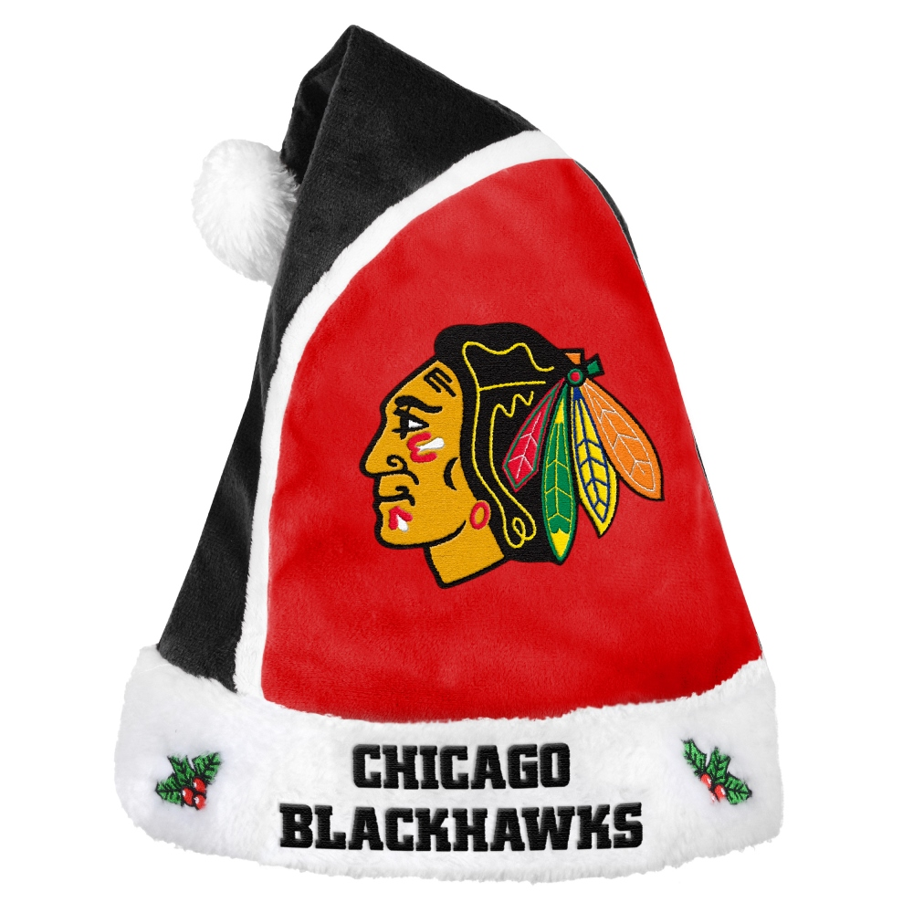 Chicago Blackhawks 2015 NHL Basic Logo Santa Hat