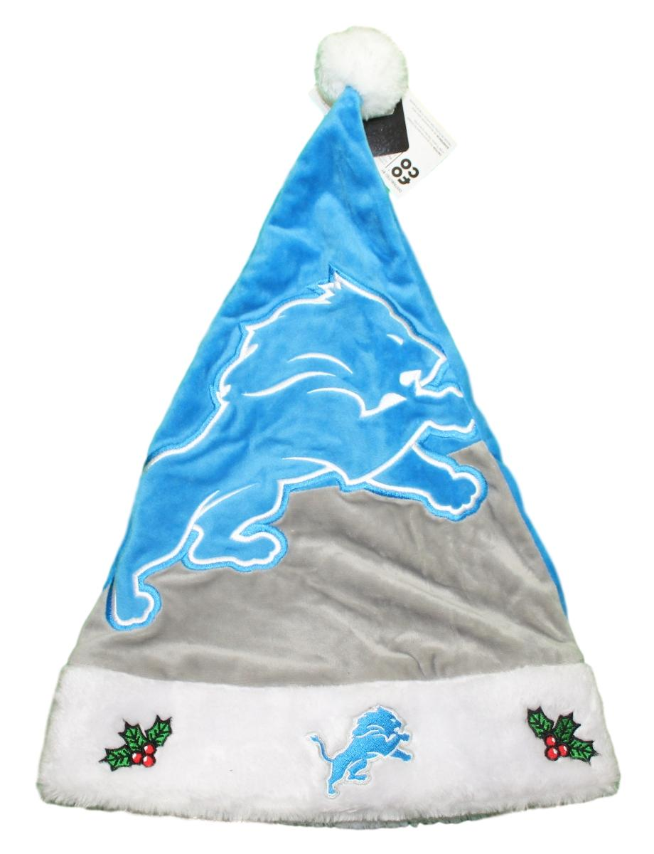 Detroit Lions 2018 NFL Basic Logo Plush Christmas Santa Hat