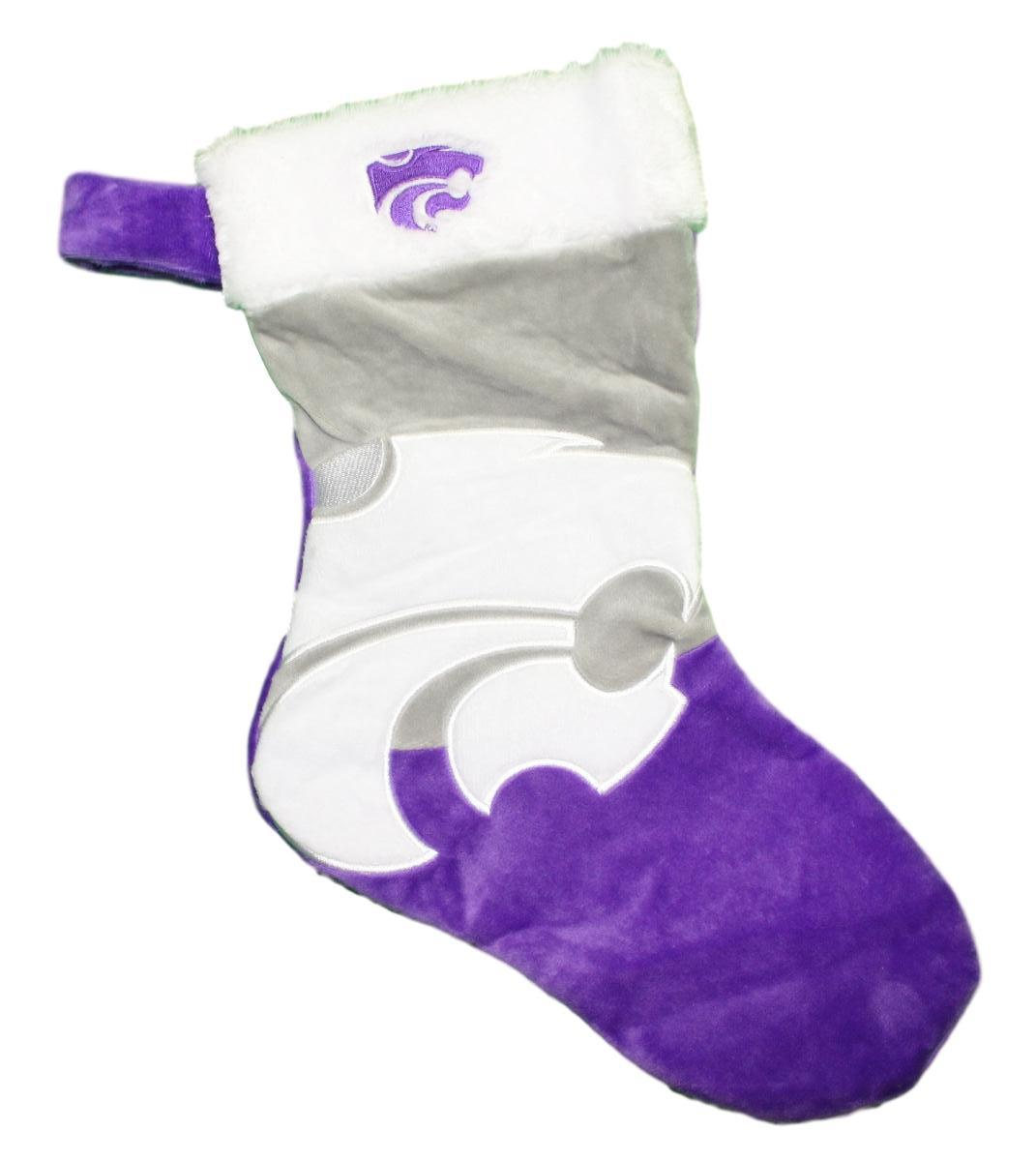Kansas State Wildcats 2018 NCAA Basic Logo Plush Christmas Stocking