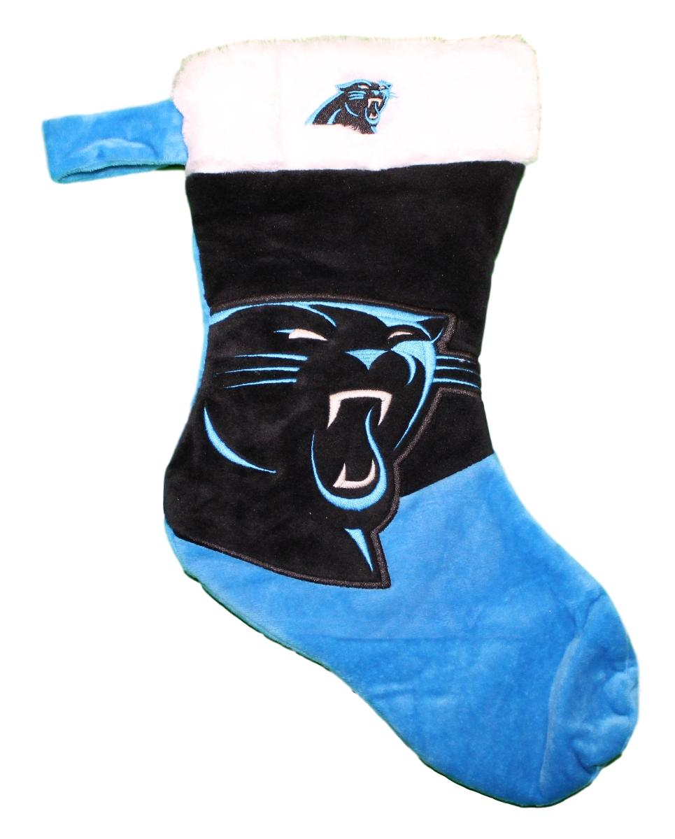 Carolina Panthers 2018 NFL Basic Logo Plush Christmas Stocking