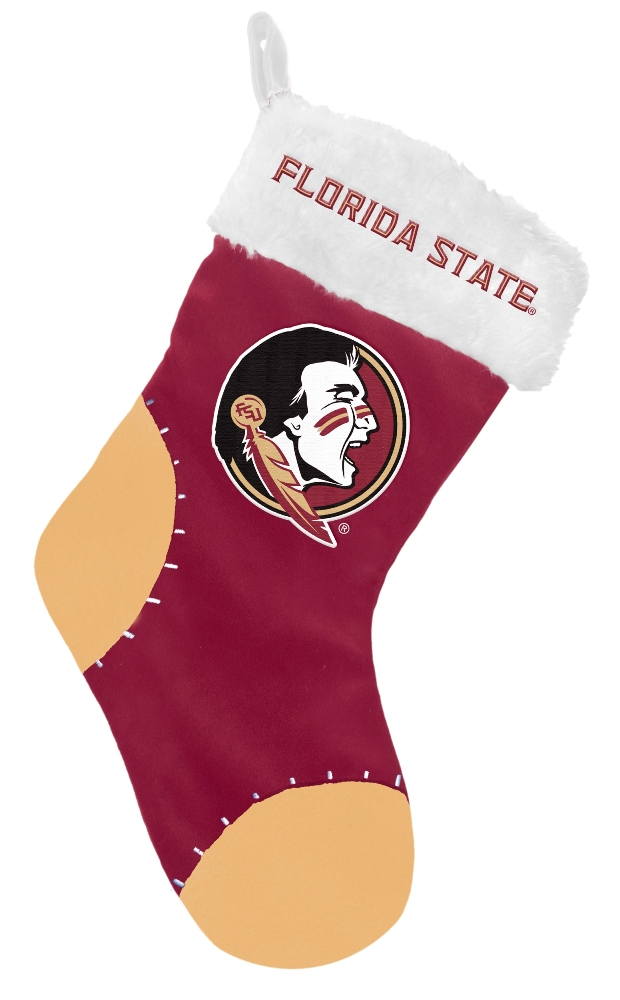 Florida State Seminoles 2017 NCAA Basic Logo Plush Christmas Stocking