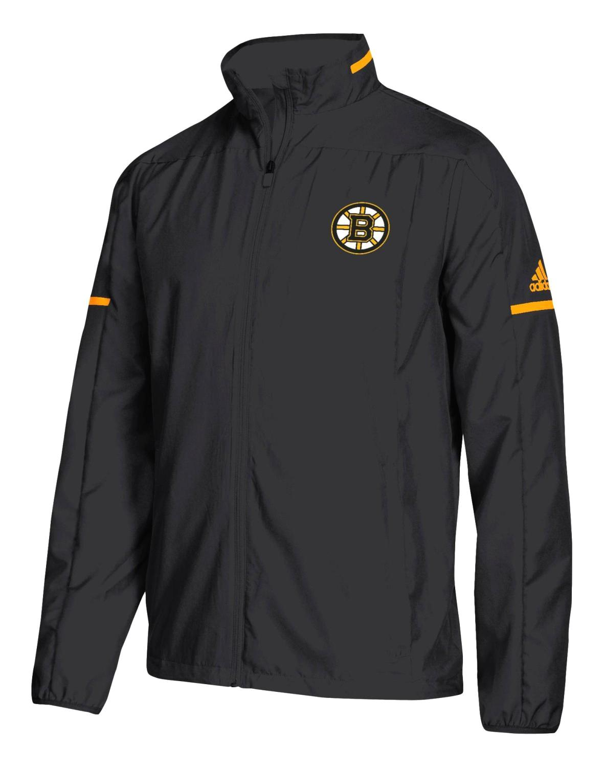 "Boston Bruins Adidas NHL Men's ""Penalty Box"" Full Zip Rink Jacket"