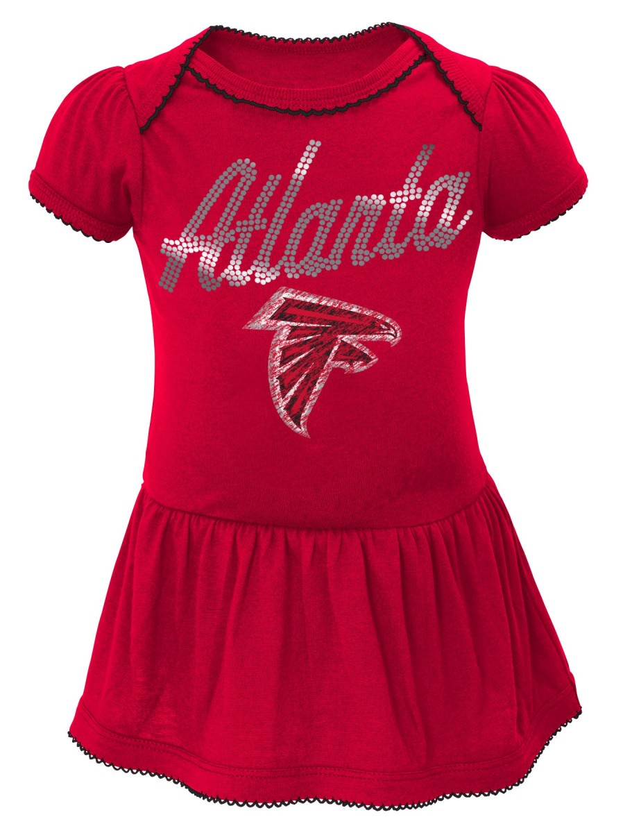 "Atlanta Falcons NFL ""Dazzled"" Infant Girls Bodysuit Dress"