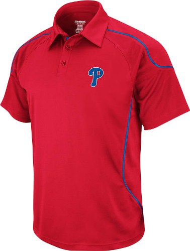 Philadelphia Phillies Reebok Flux Red Performance Polo Shirt