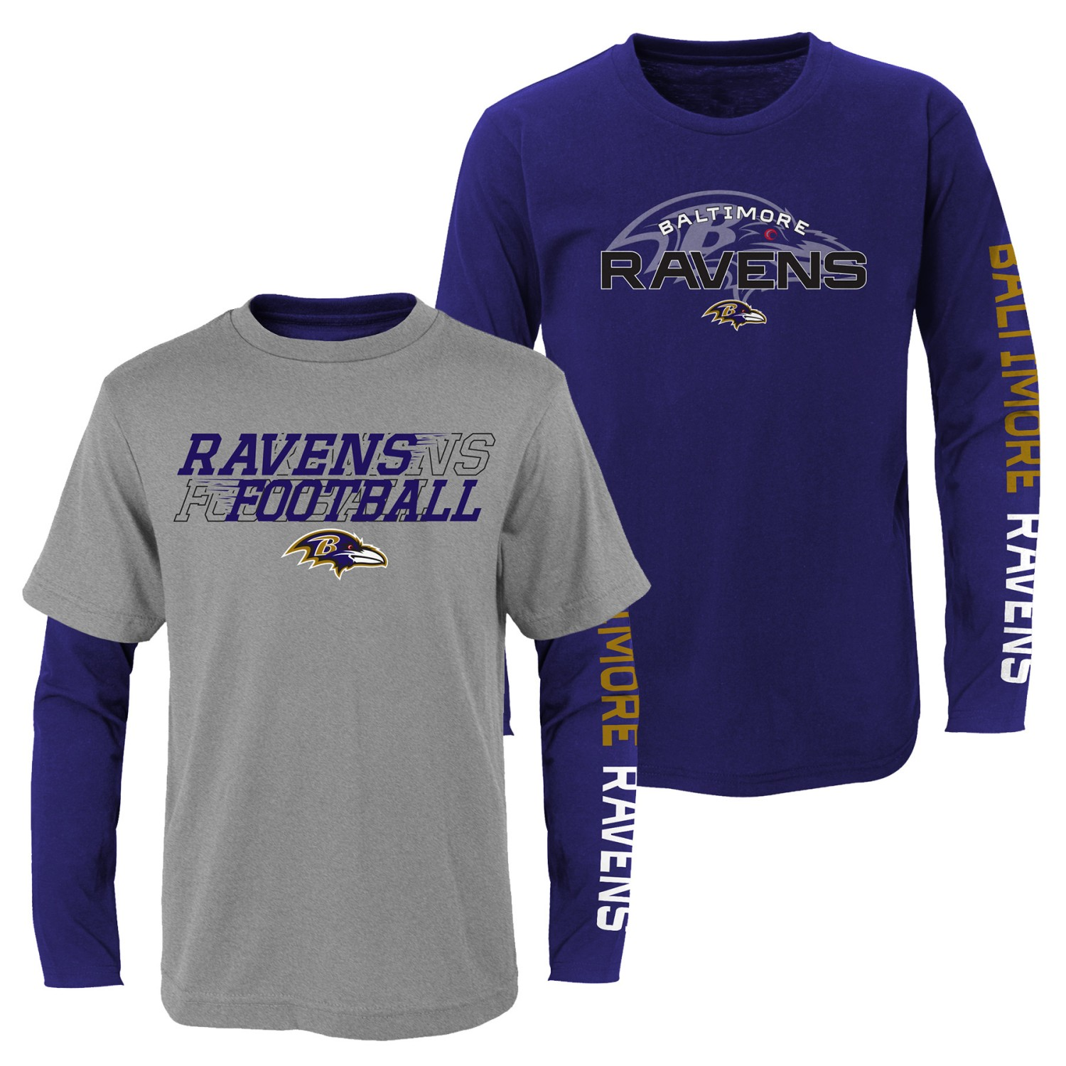 "Baltimore Ravens Youth NFL ""United"" 3 in 1 T-Shirt Combo Set"