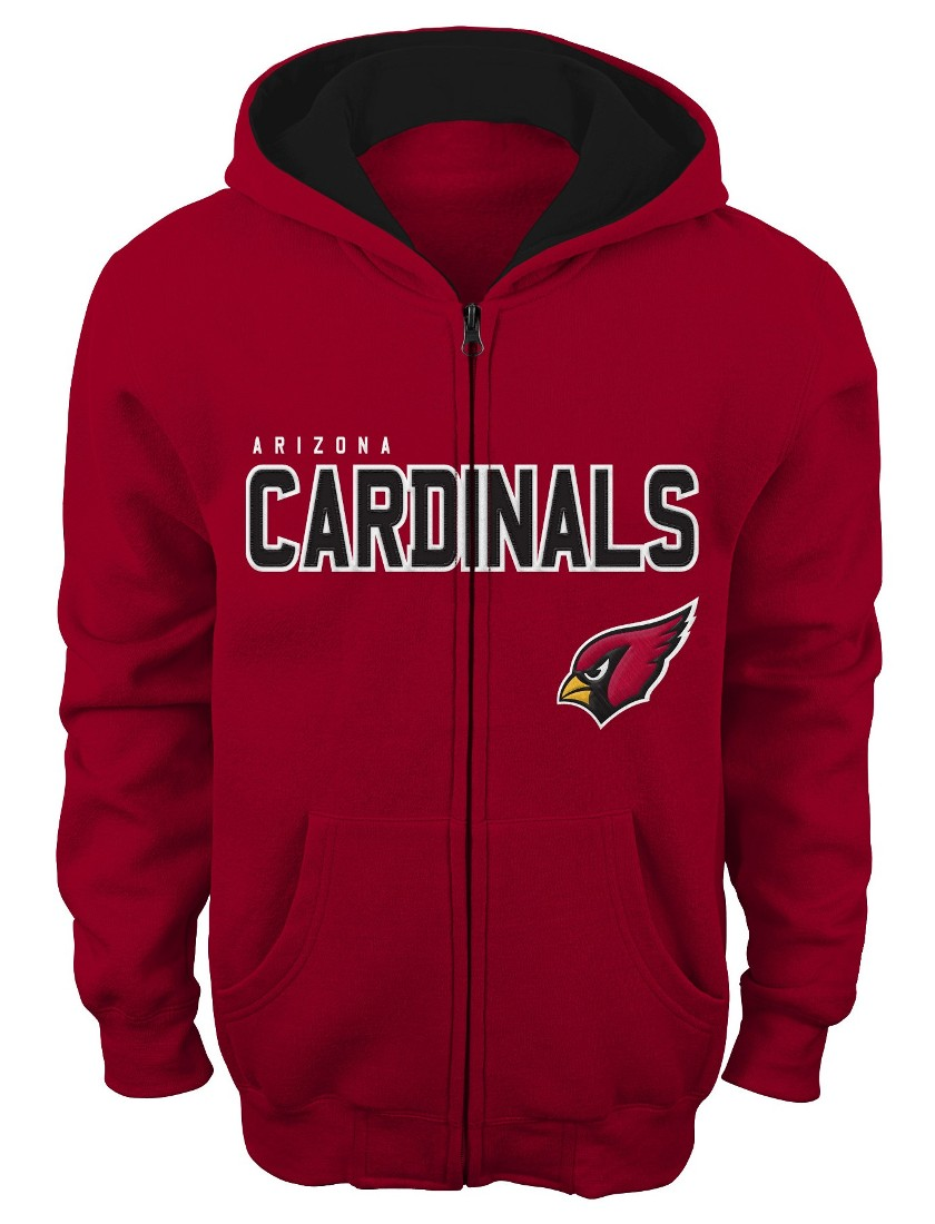 "Arizona Cardinals Youth NFL ""Stated"" Full Zip Hooded Sweatshirt"